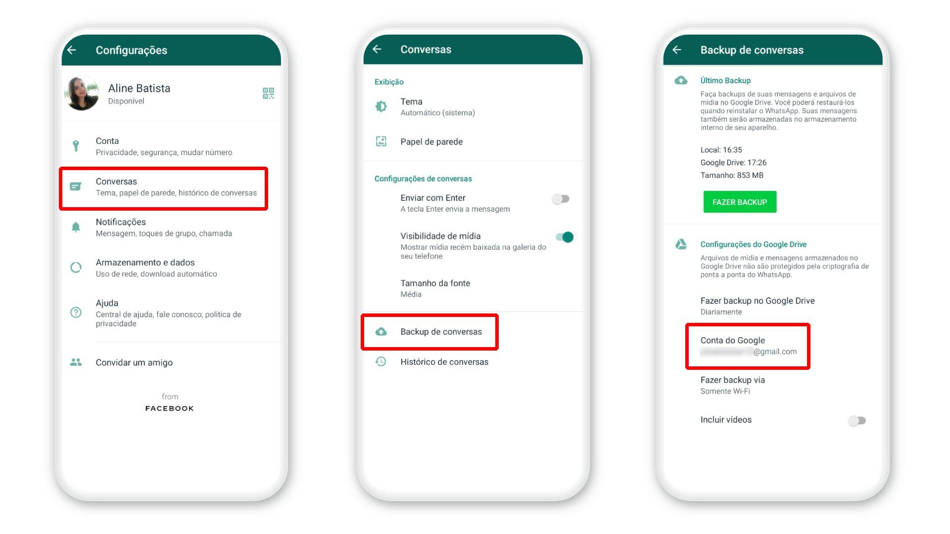 Como recuperar mensagens apagadas do WhatsApp: é possível fazer backup depois de trocar de número (Foto: Reprodução/Zoom)