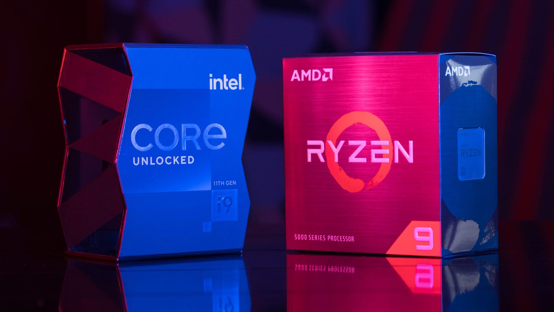 As principais fabricantes do mundo: AMD e Intel (Foto: Reprodução/Shutterstock)
