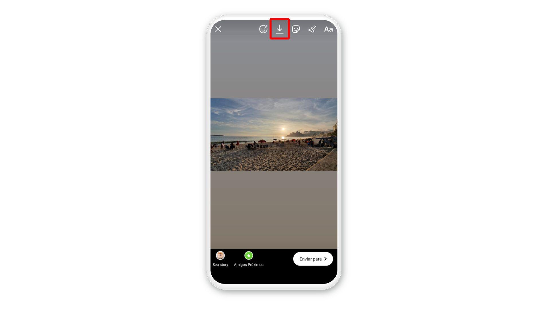 Como salvar Stories do Instagram no próprio perfil: é possível fazer download antes de publicar a foto (Foto: Arte/Zoom)