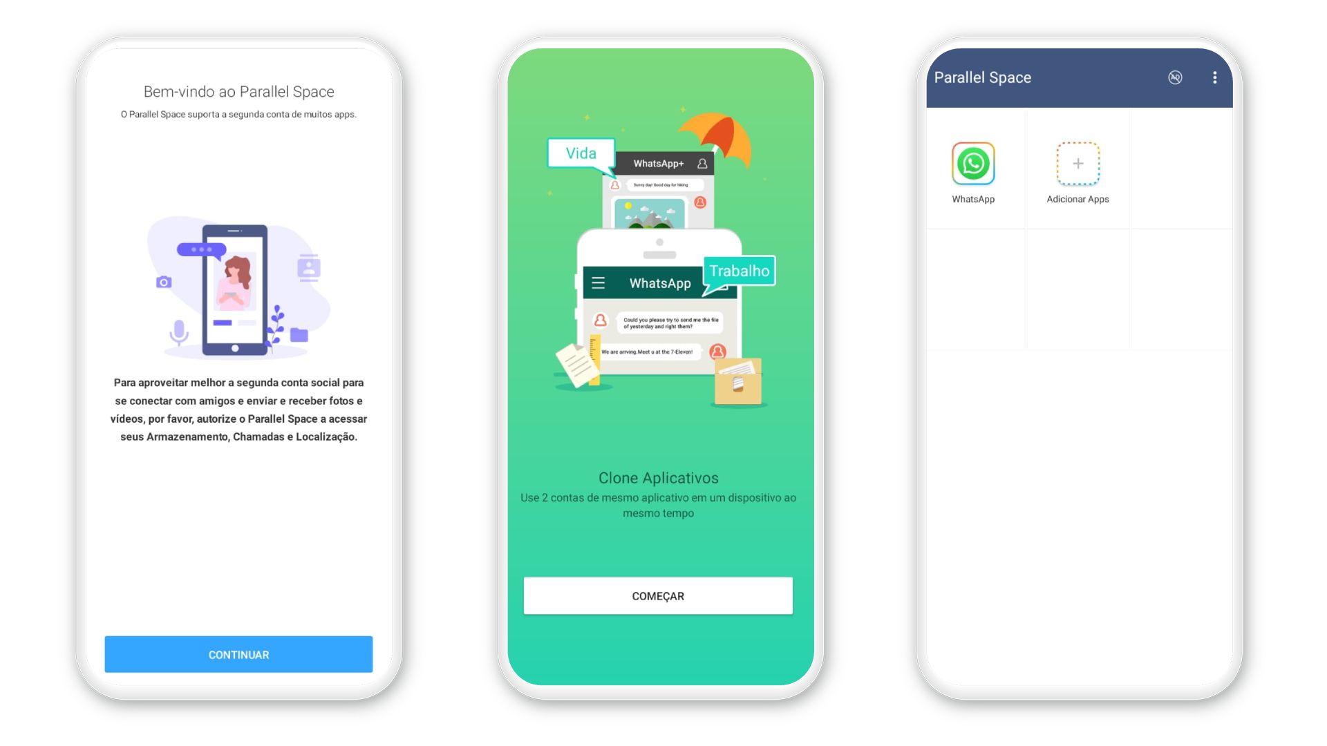 Como ter dois WhatsApp no mesmo celular? App Parallel Space é uma opção para Android e iPhone (Foto: Arte/Zoom)