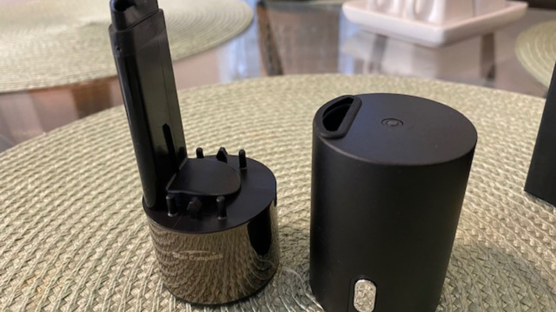O aparelho possui duas partes que se encaixam (Foto: Arquivo Pessoal / Leonor Militão)