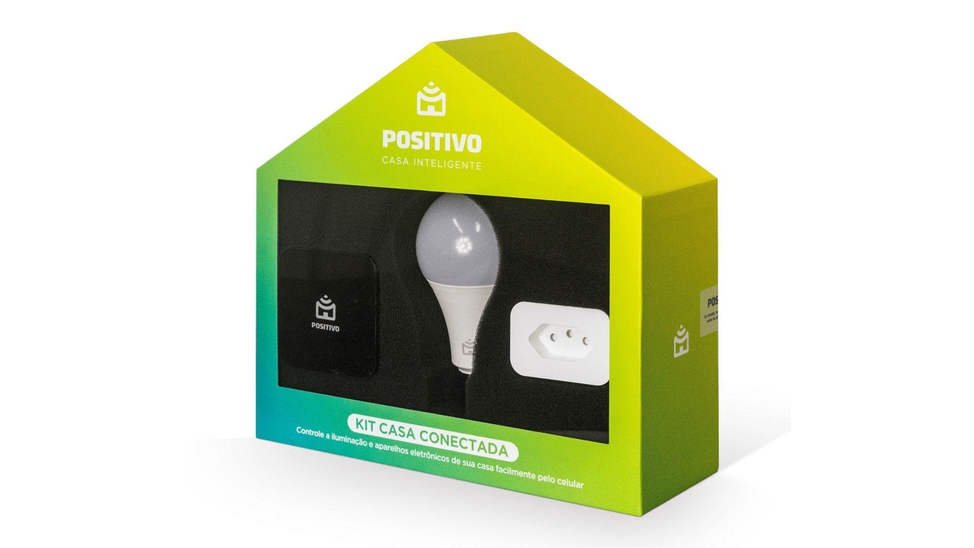 O Kit casa conectada Positivo é ideal para quem quer começar a deixar a casa inteligente. (Imagem: divulgação/Positivo)