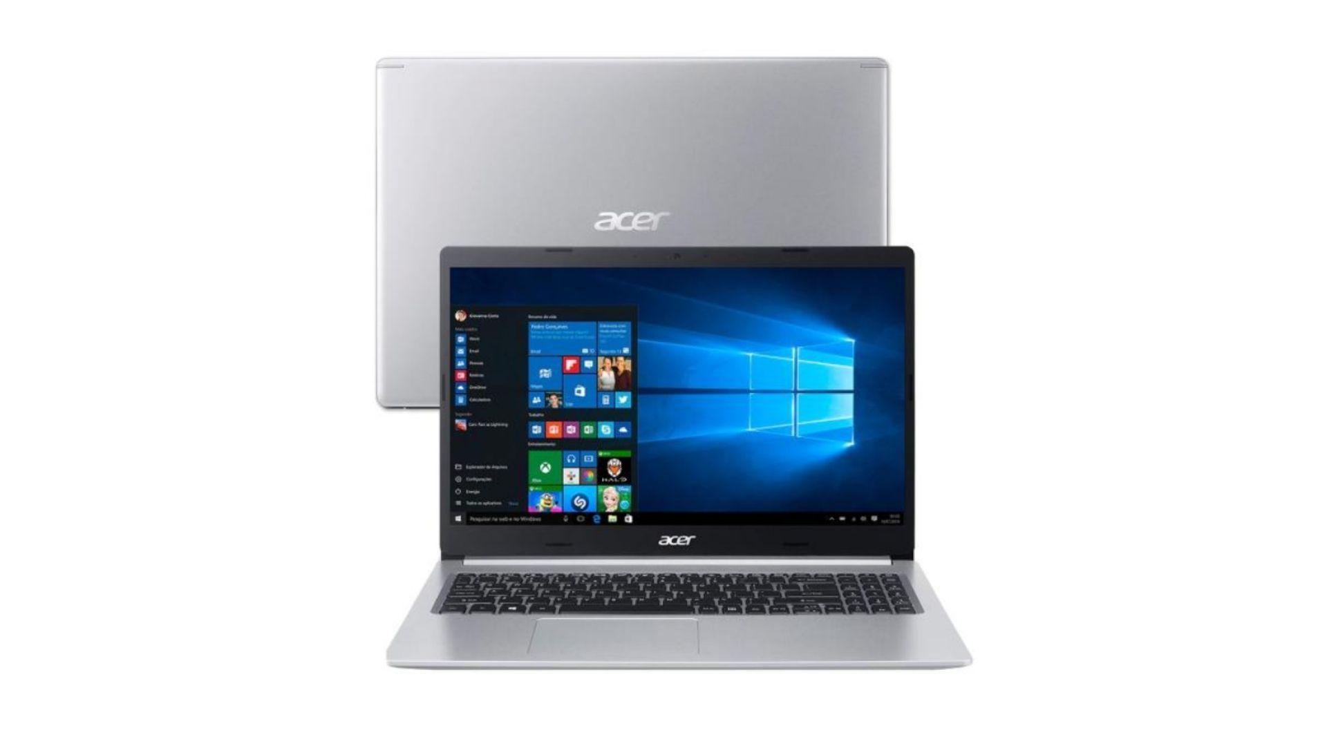 Notebook Acer é bom? Linha Aspire 5 tem parte da construção em metal (Foto: Reprodução/Shutterstock).