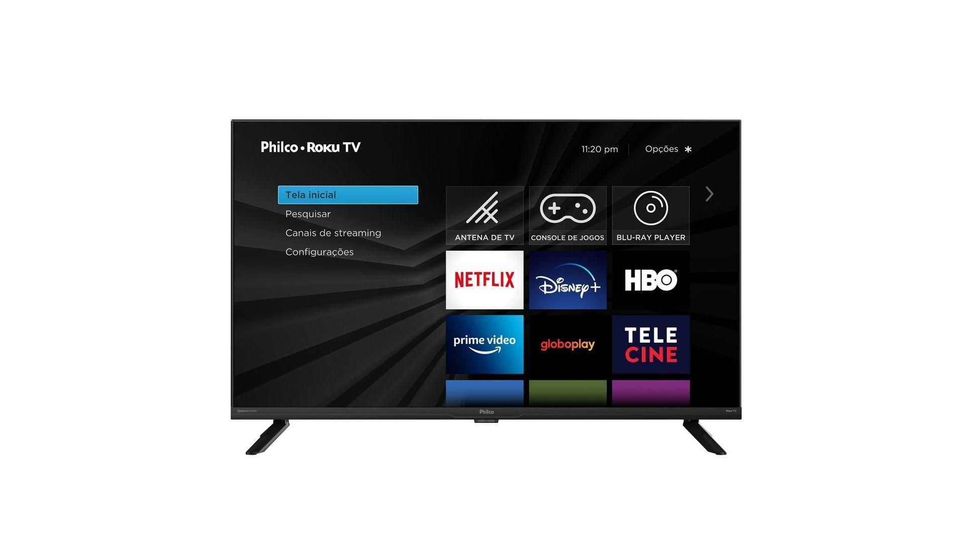 A Roku TV Philco possui resolução 4K e está disponível em 50 e 58 polegadas (Imagem: Divulgação/Roku)