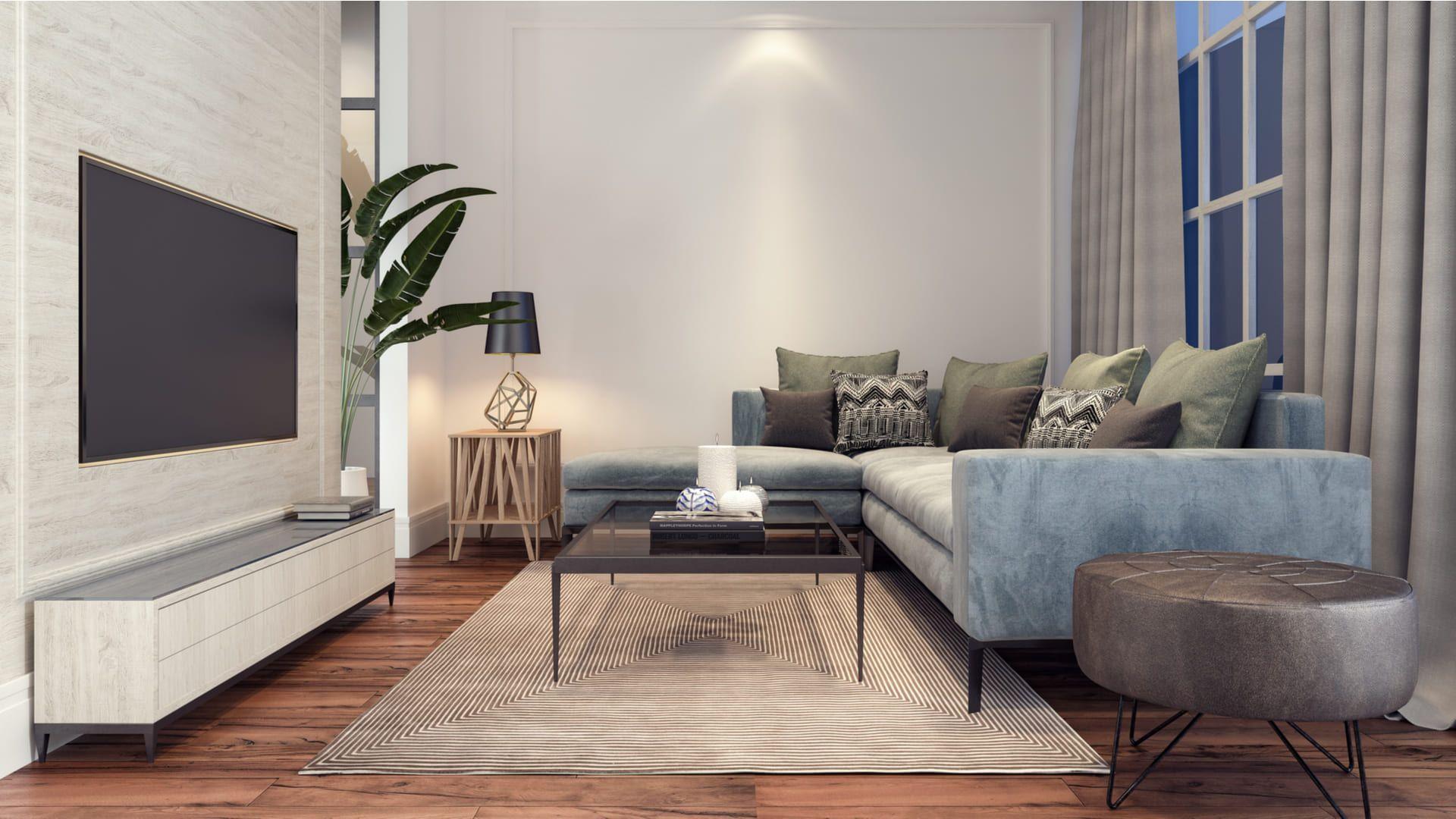 Para escolher um painel de TV é importante respeitar o estilo da sua sala! (Imagem: Reprodução/Shutterstock)