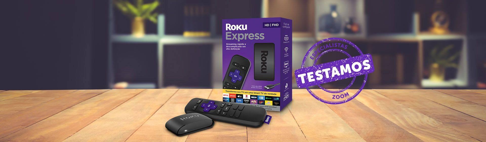 Roku Express: resolução Full HD e boa variedade de apps