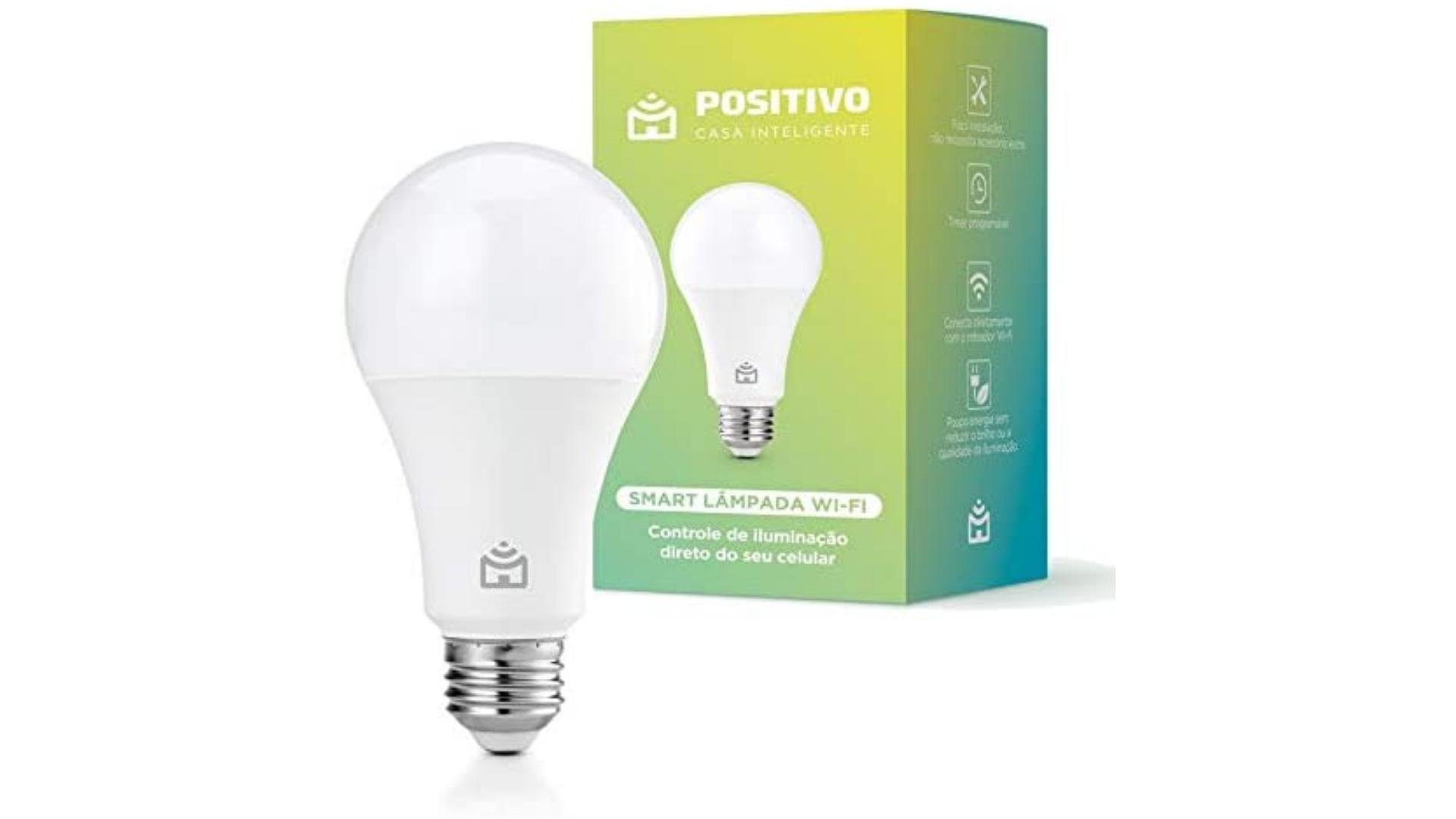 Confira a análise e saiba se a Smart Lâmpada Positivo vale a pena! (Imagem: Divulgação/Positivo)