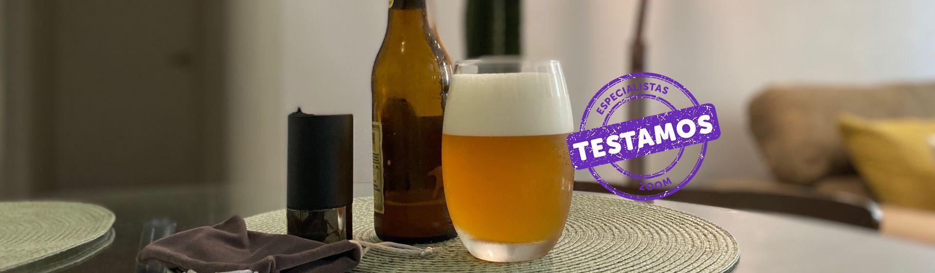 Chopeira portátil Xiaomi para garrafas: aparelho adiciona espuma densa e suave a qualquer cerveja