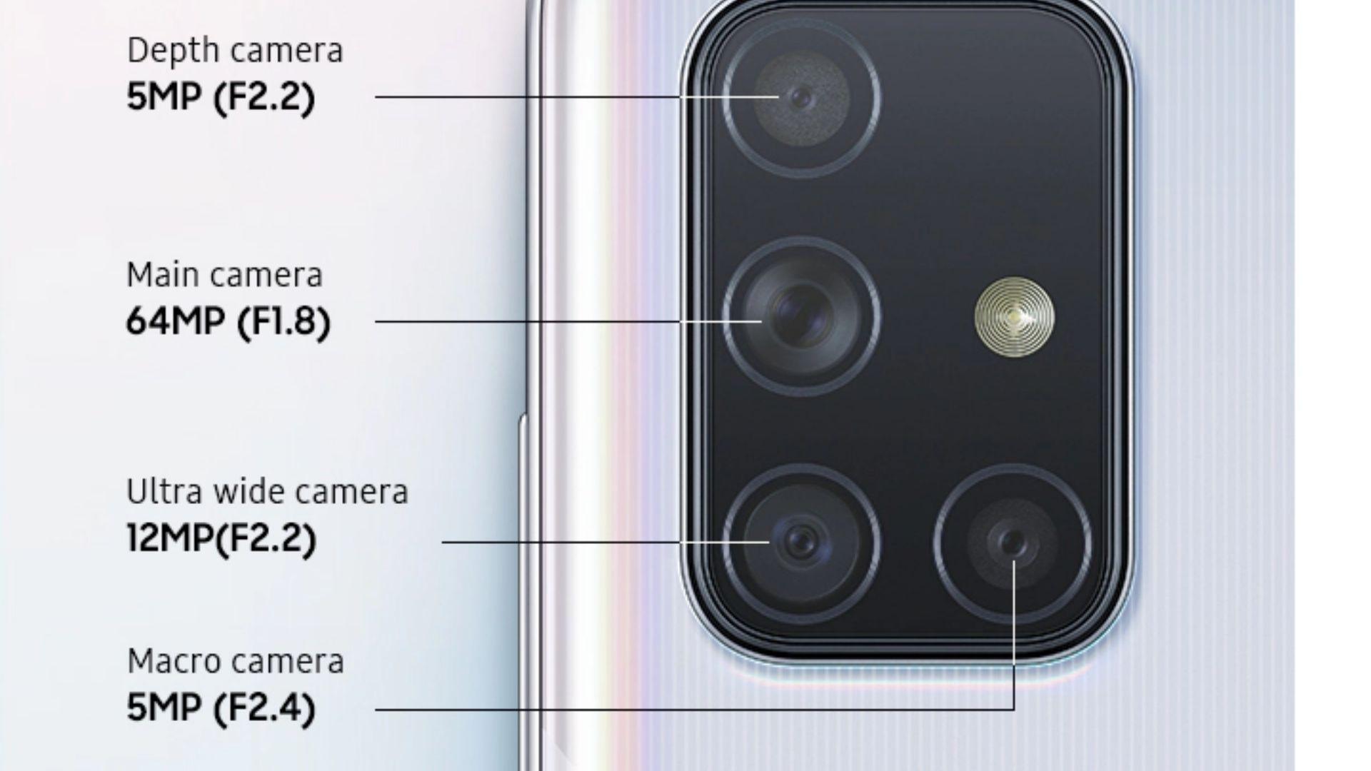 Galaxy M31 vs A71: O A71 tem câmera um pouco melhor. (Foto: Divulgação/Samsung)