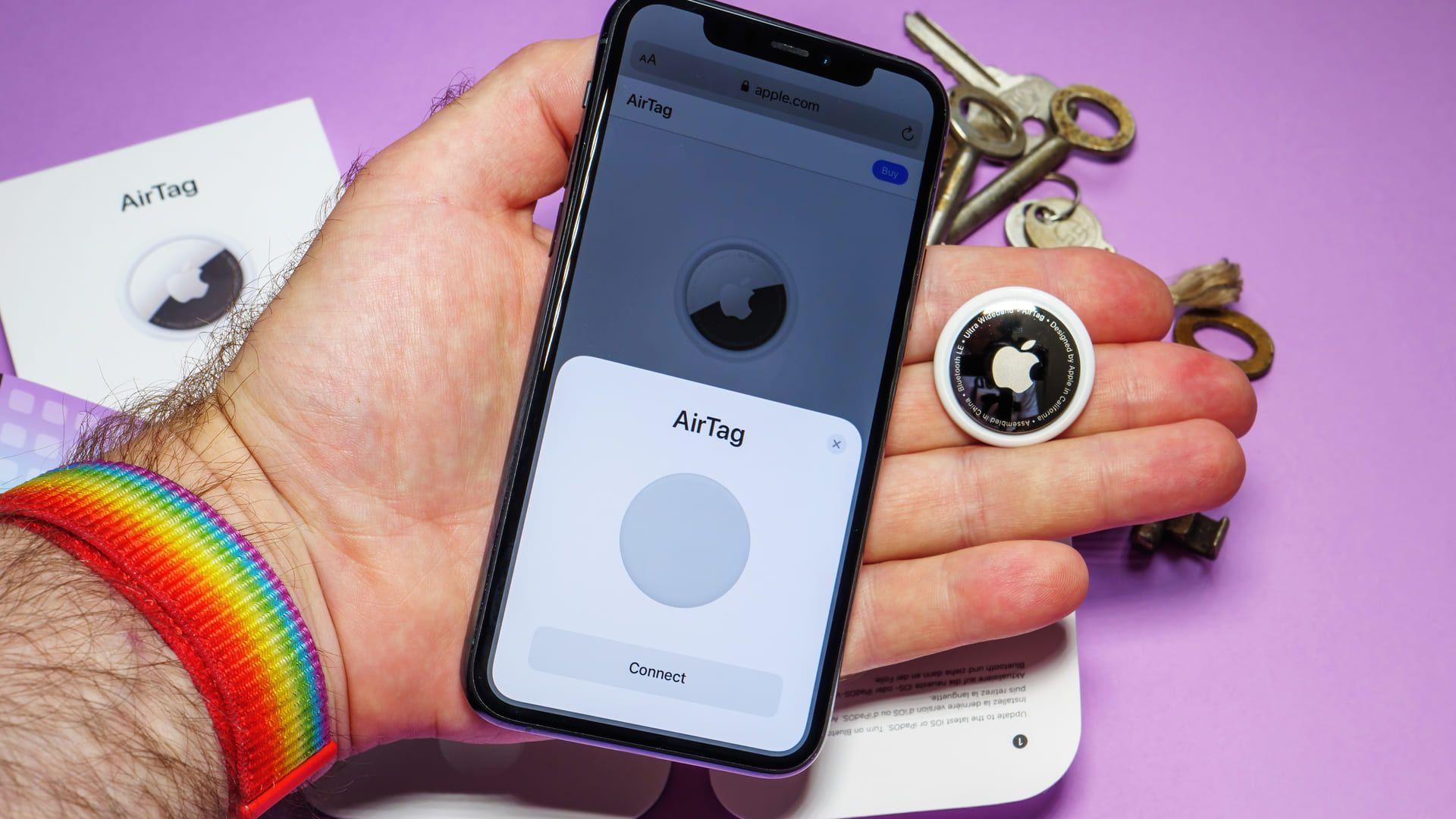 O Apple AirTag traz uma conexão rápida com apenas um toque.