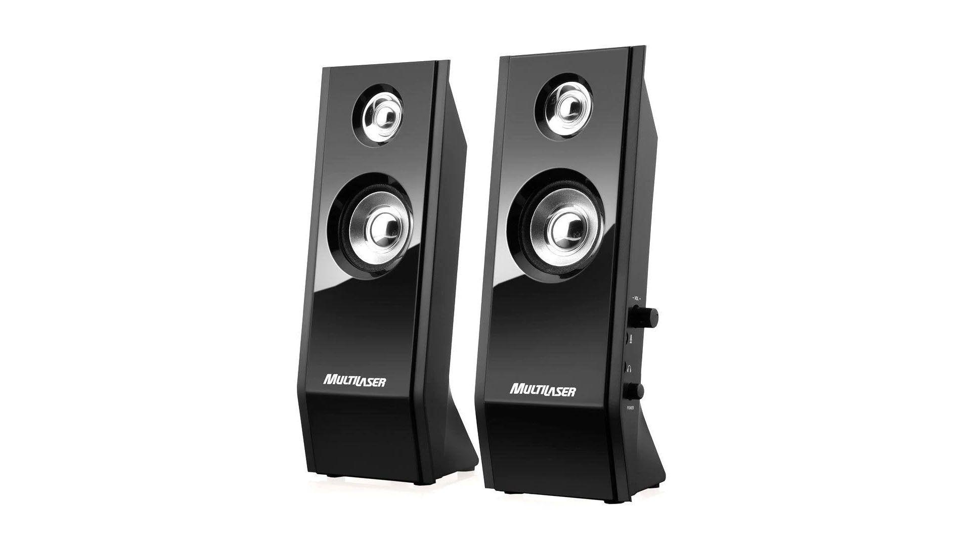 Multilaser promete áudio sem ruído ou distorções nessa caixa de som para PC (Divulgação / Multilaser)