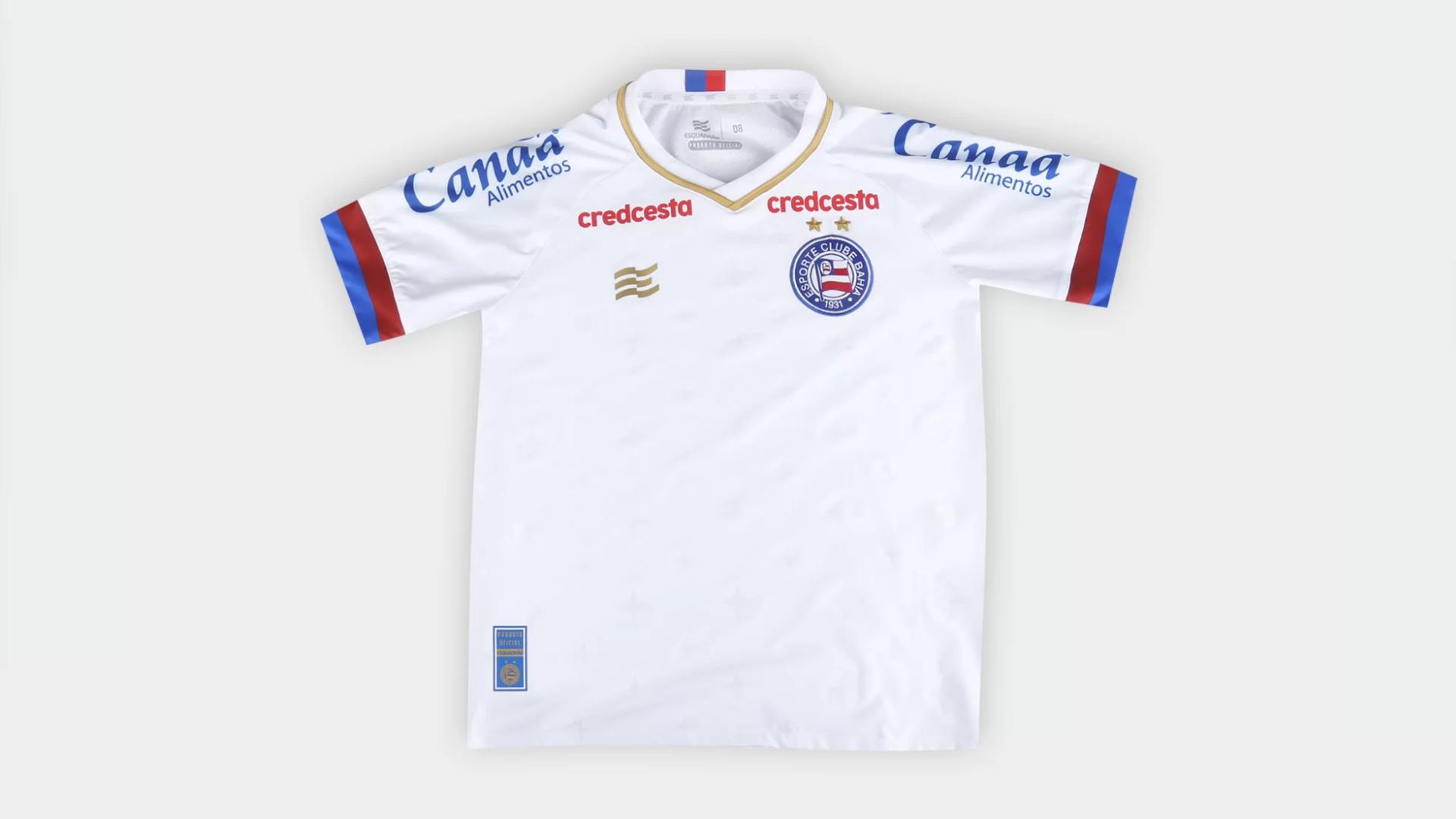 Camisa do Bahia Infantil 2020 Esquadrão Jogo 1 (Imagem: Divulgação/Esquadrão)