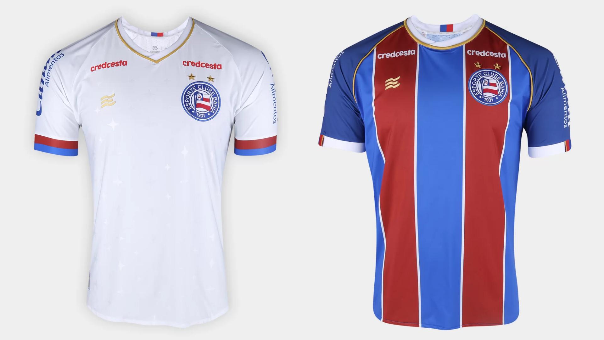 Camisa do Bahia 202o Esquadrão Jogo 1 e 2 (Imagem: Divulgação/Esquadrão)