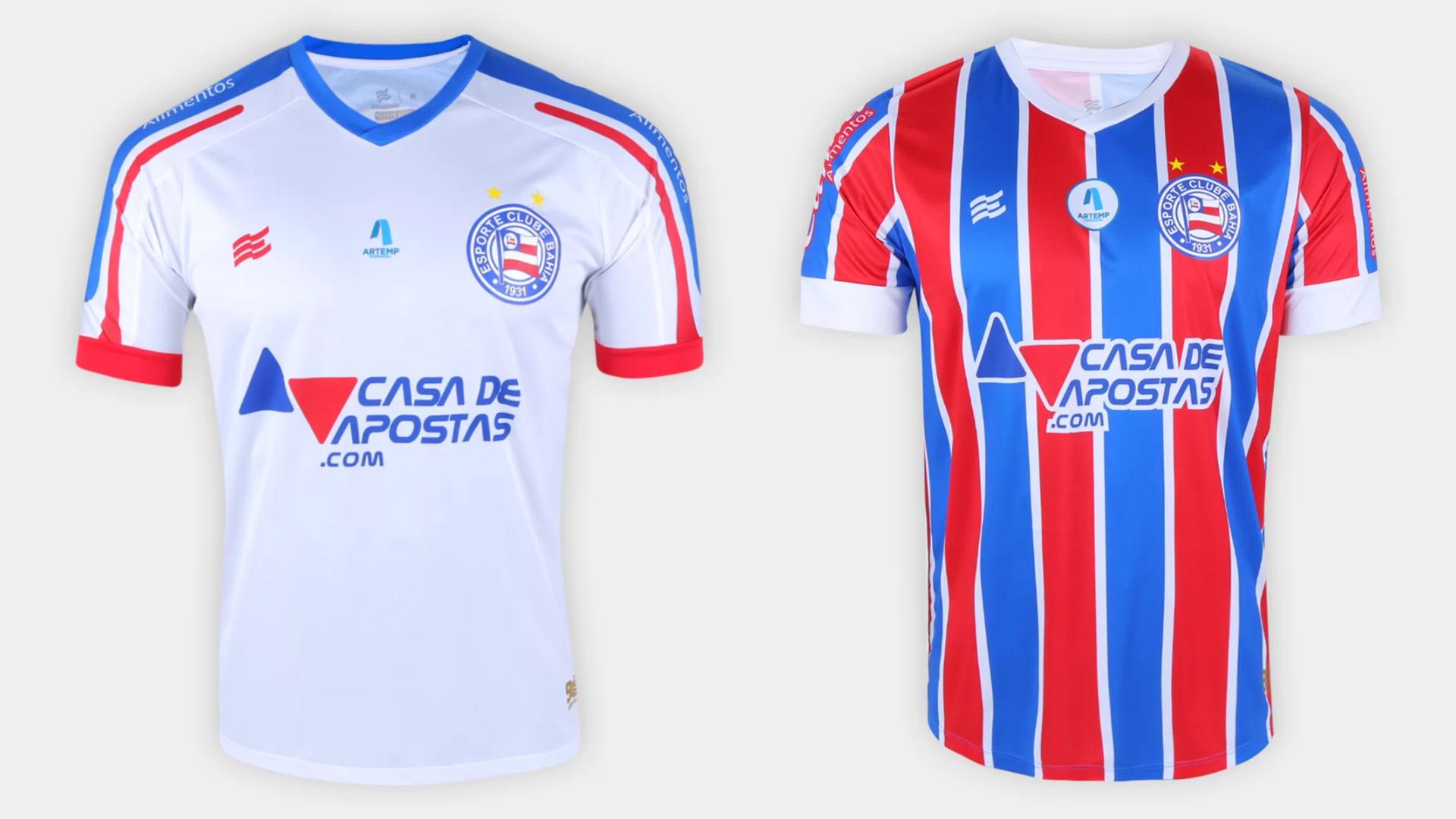 Camisa do Bahia 2021 Esquadrão Jogo 1 e 2 (Imagem: Divulgação/Esquadrão)