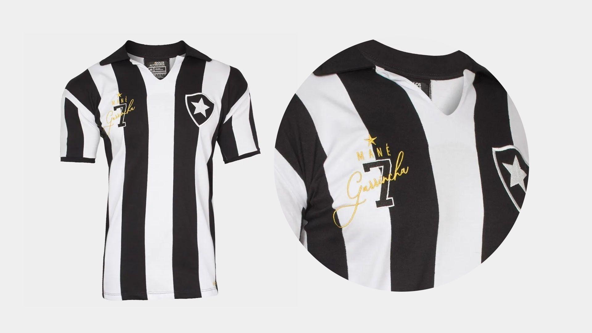 Camisa do Botafogo Retrô Garrincha (Imagem: Divulgação/Liga Retrô)
