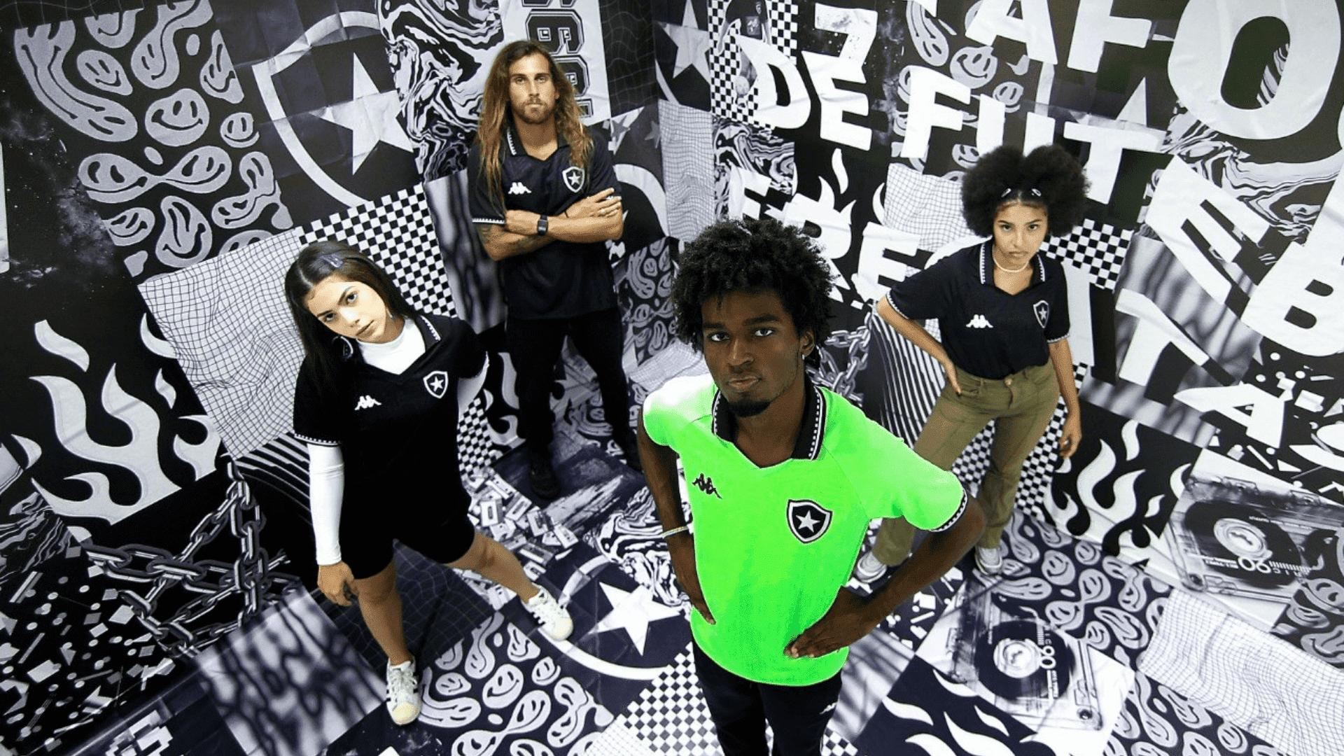Conheça os modelos de camisa do Botafogo para comprar em 2021! (Imagem: Divulgação/Kappa)