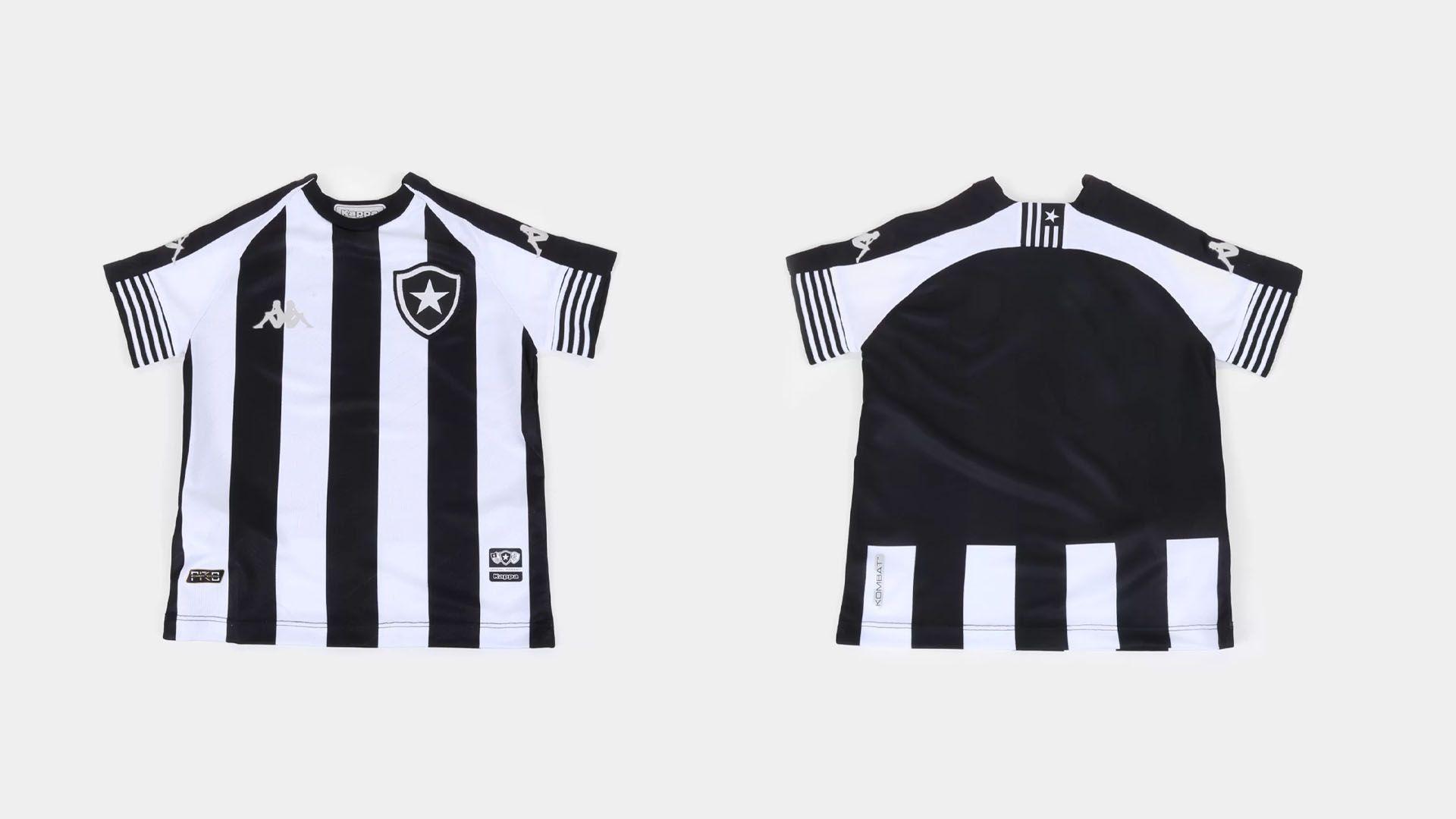 Camisa do Botafogo Infantil 2020 Kappa Jogo 1 (Imagem: Divulgação/Kappa)