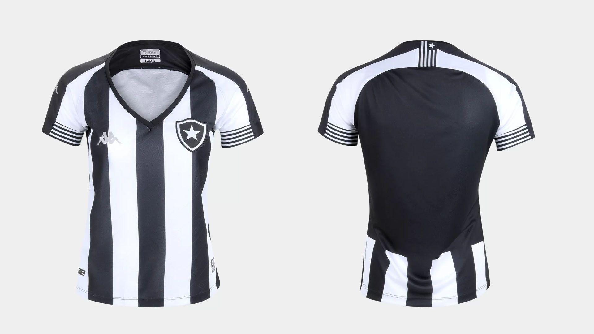Camisa do Botafogo Feminina 2020 Kappa Jogo 1 (Imagem: Divulgação/Kappa)