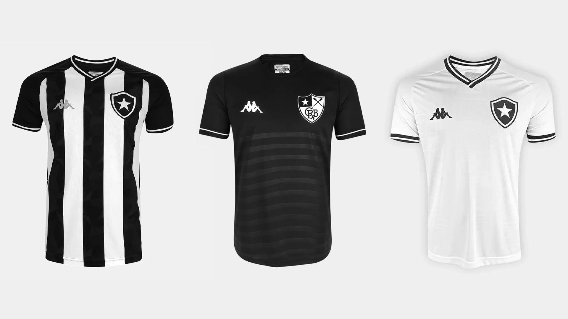 Camisa do Botafogo 2019 Kappa Jogo 1, 2 e 3 (Imagem: Divulgação/Kappa)