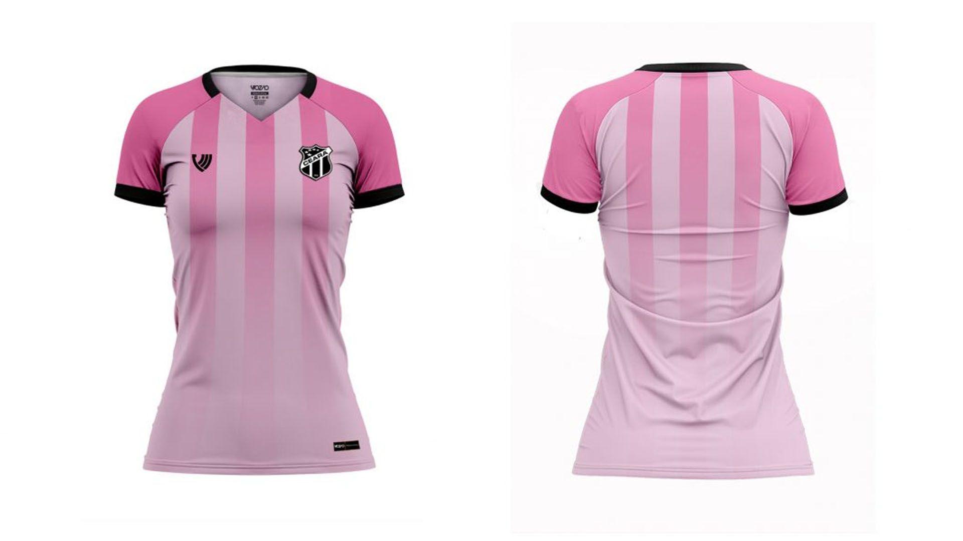 Camisa do Ceará 2020 Vozão Outubro Rosa (Imagem: Divulgação/Vozão)