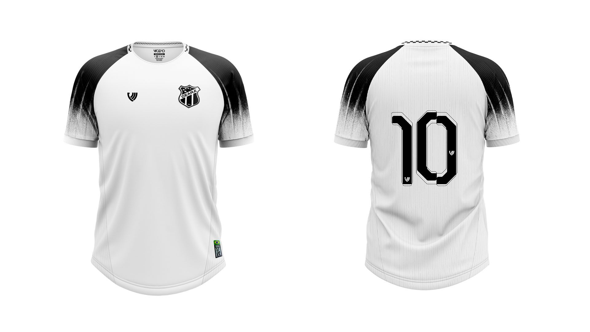 Camisa do Ceará Infantil 2021 Vozão Jogo 2 (Imagem: Divulgação/Vozão)