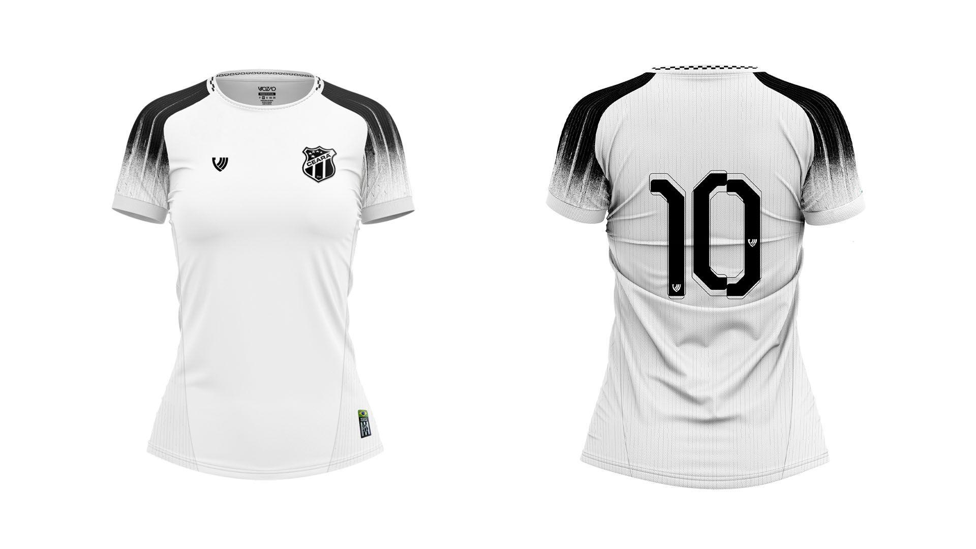 Camisa do Ceará Feminina 2021 Vozão Jogo 2 (Imagem: Divulgação/Vozão)