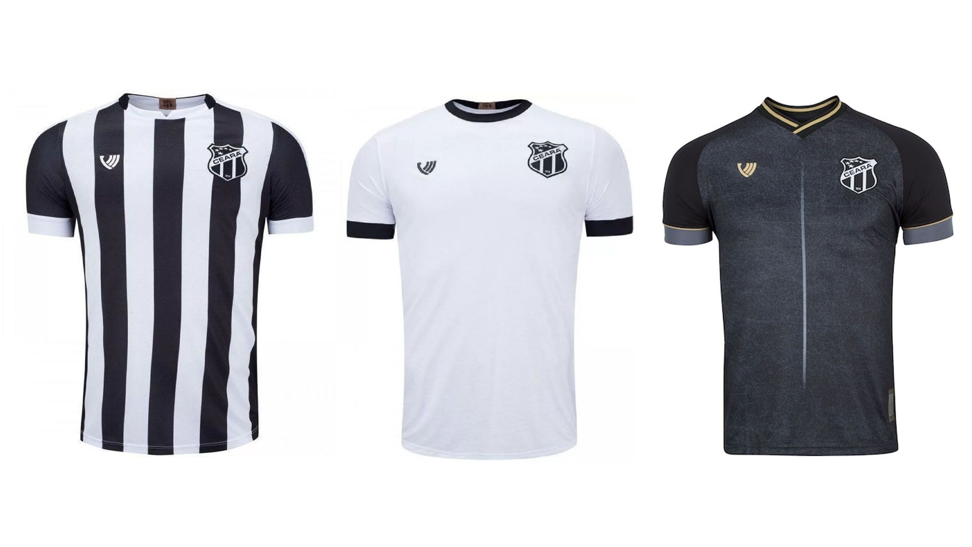 Camisa do Ceará 2020 Vozão Jogo 1, 2 e 3 (Imagem: Divulgação/Vozão)