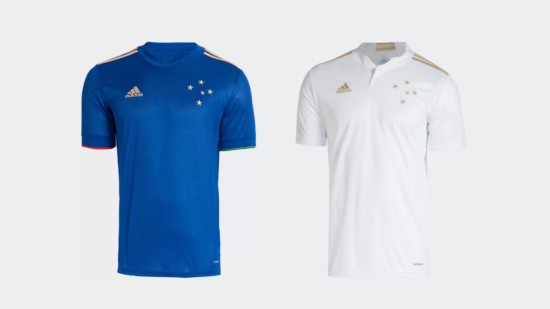 Camisa do Cruzeiro 2021 Adidas Jogo 1 e 2 (Imagem: Divulgação/Adidas)