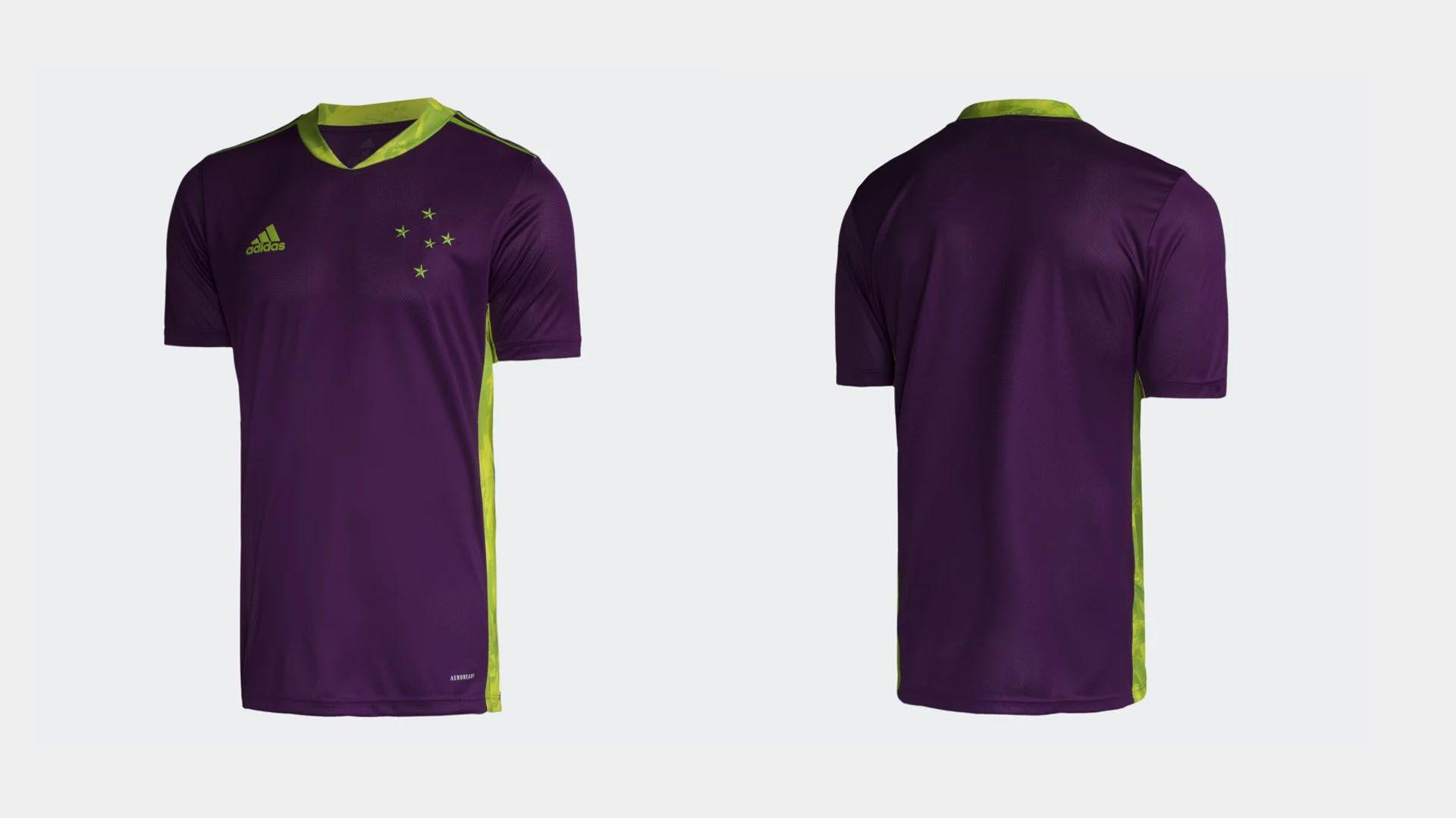 Camisa do Cruzeiro 2020 Adidas Goleiro 2 (Imagem: Divulgação/Adidas)