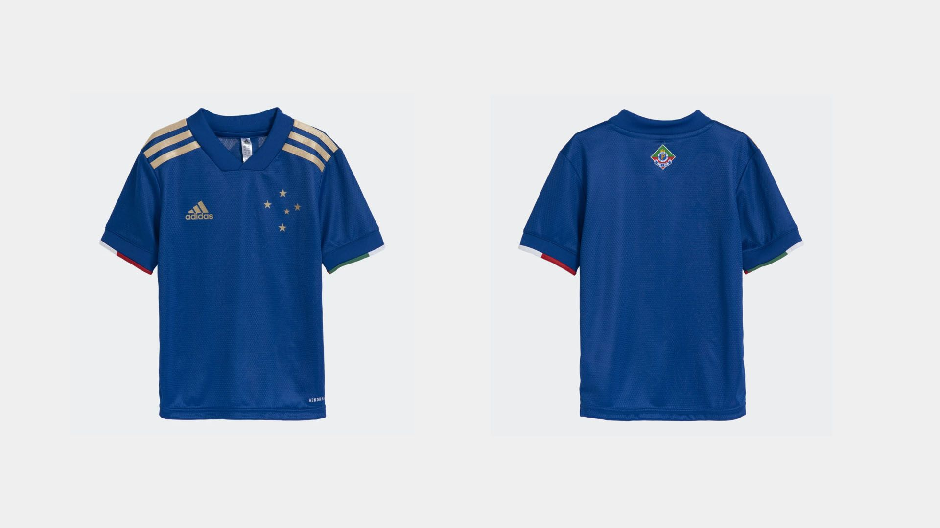 Camisa do Cruzeiro Infantil 2021 Adidas Jogo 1 (Imagem: Divulgação/Adidas)