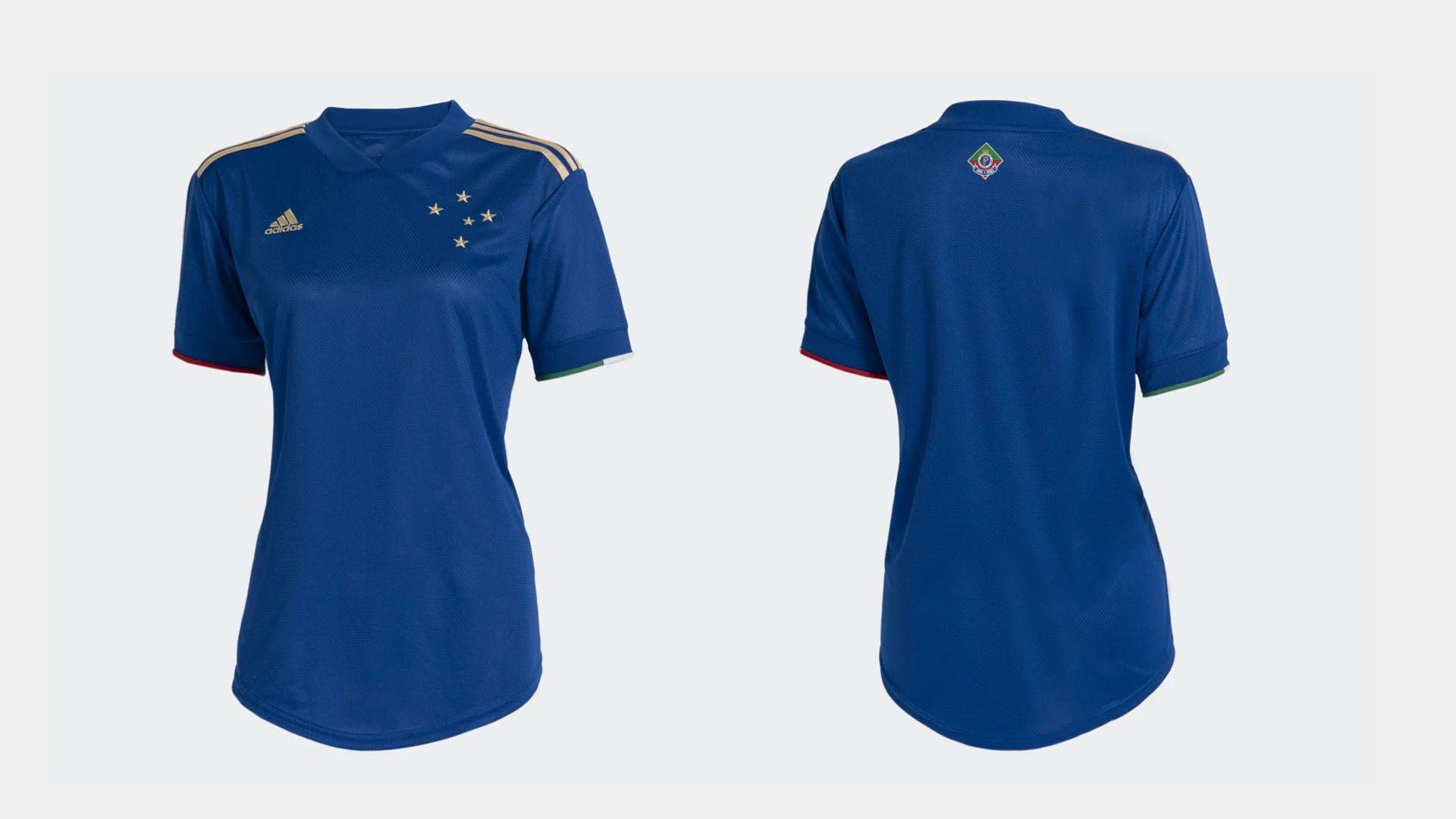 Camisa do Cruzeiro Feminina 2021 Adidas Jogo 1 (Imagem: Divulgação/Adidas)