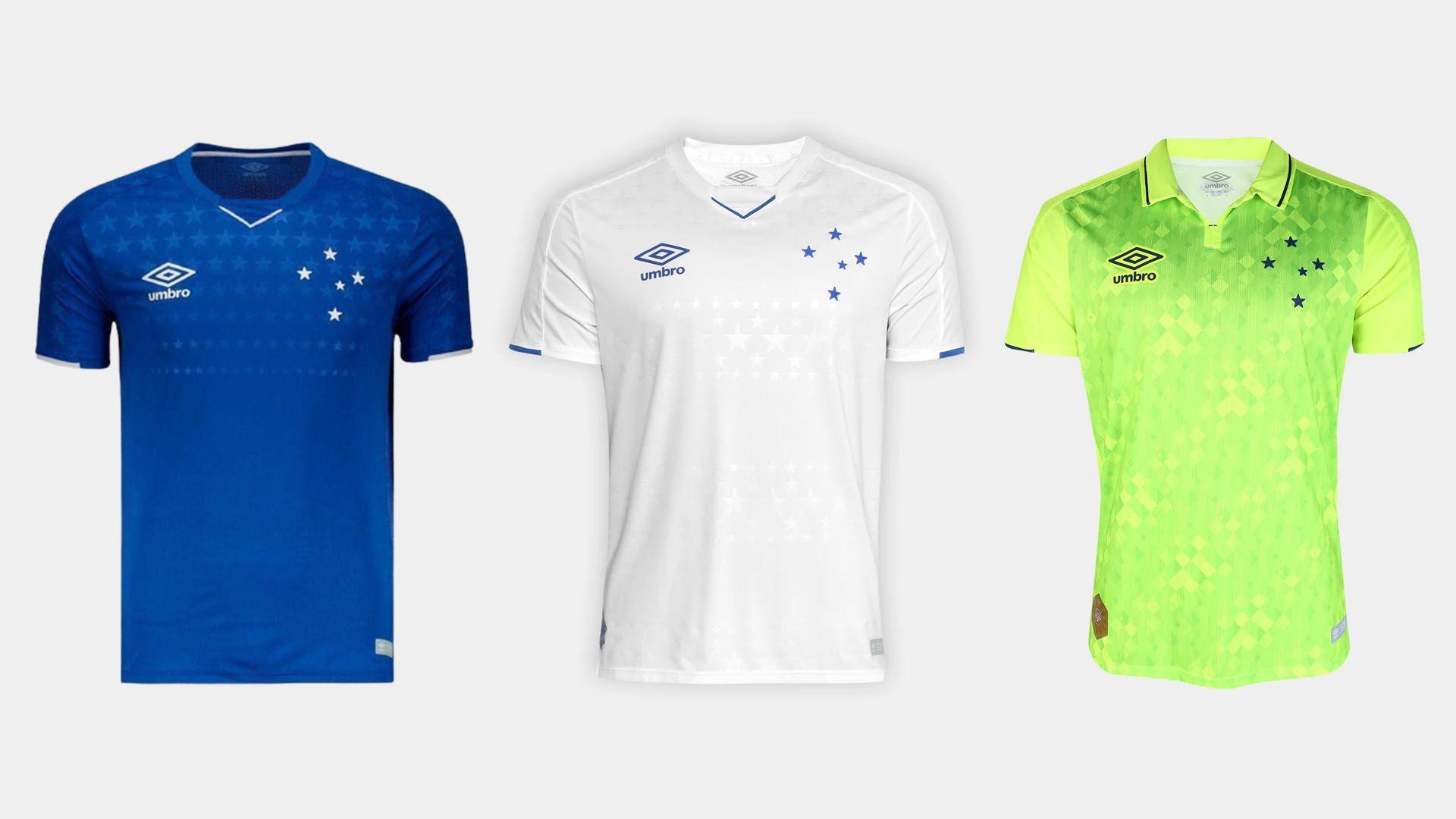 Camisa do Cruzeiro 2019 Adidas Jogo 1, 2 e 3 (Imagem: Divulgação/Adidas)