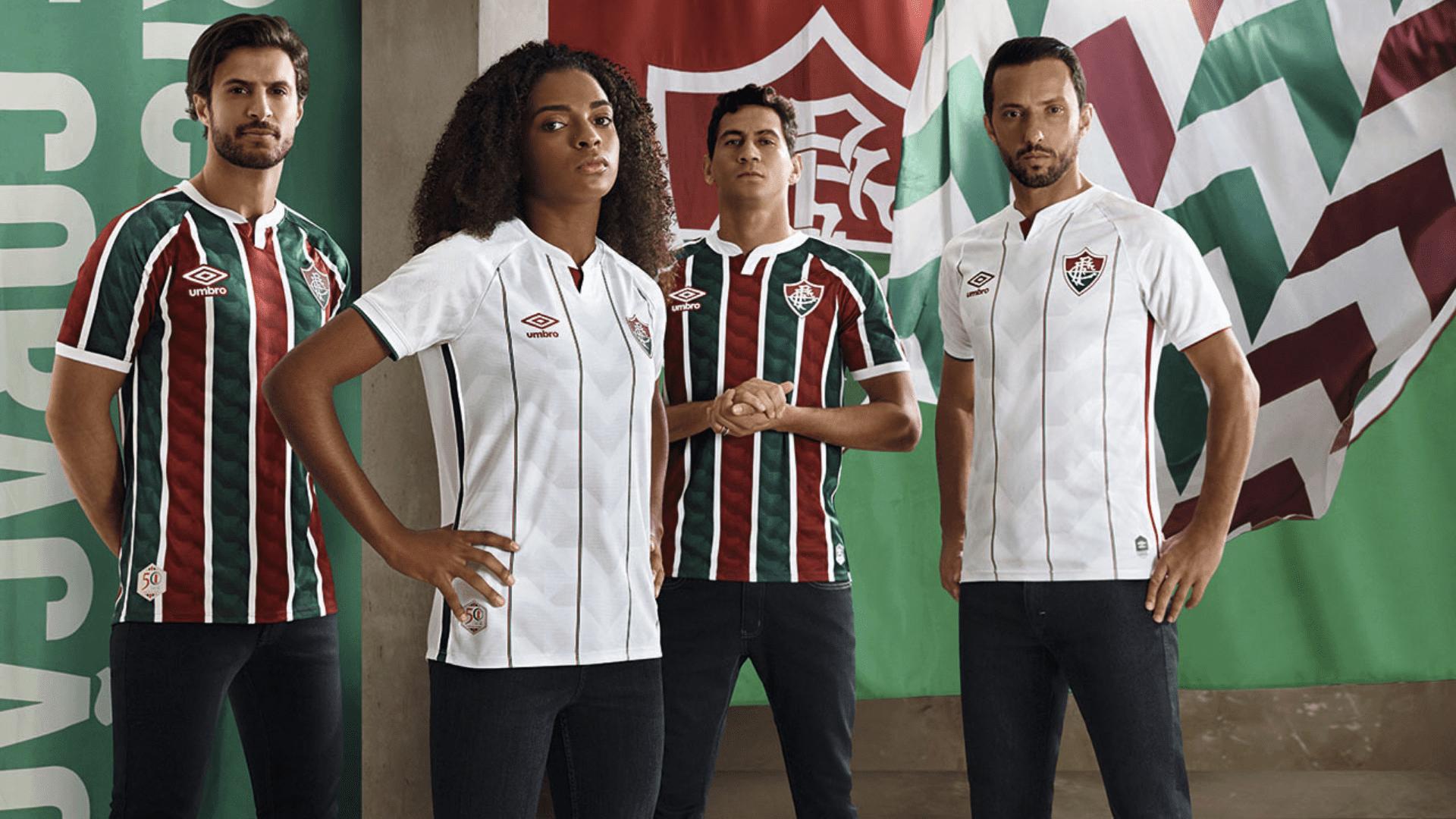 Conheça os modelos de camisa do Fluminense para comprar em 2021! (Imagem: Divulgação/Umbro)
