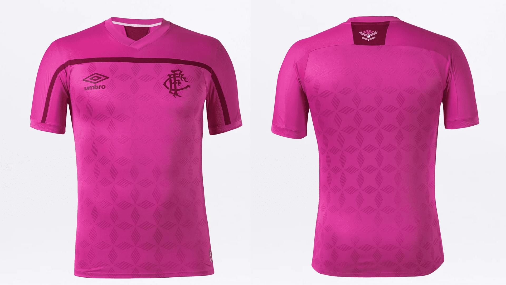 Camisa do Fluminense 2020 Umbro Outubro Rosa (Imagem: Divulgação/Umbro)