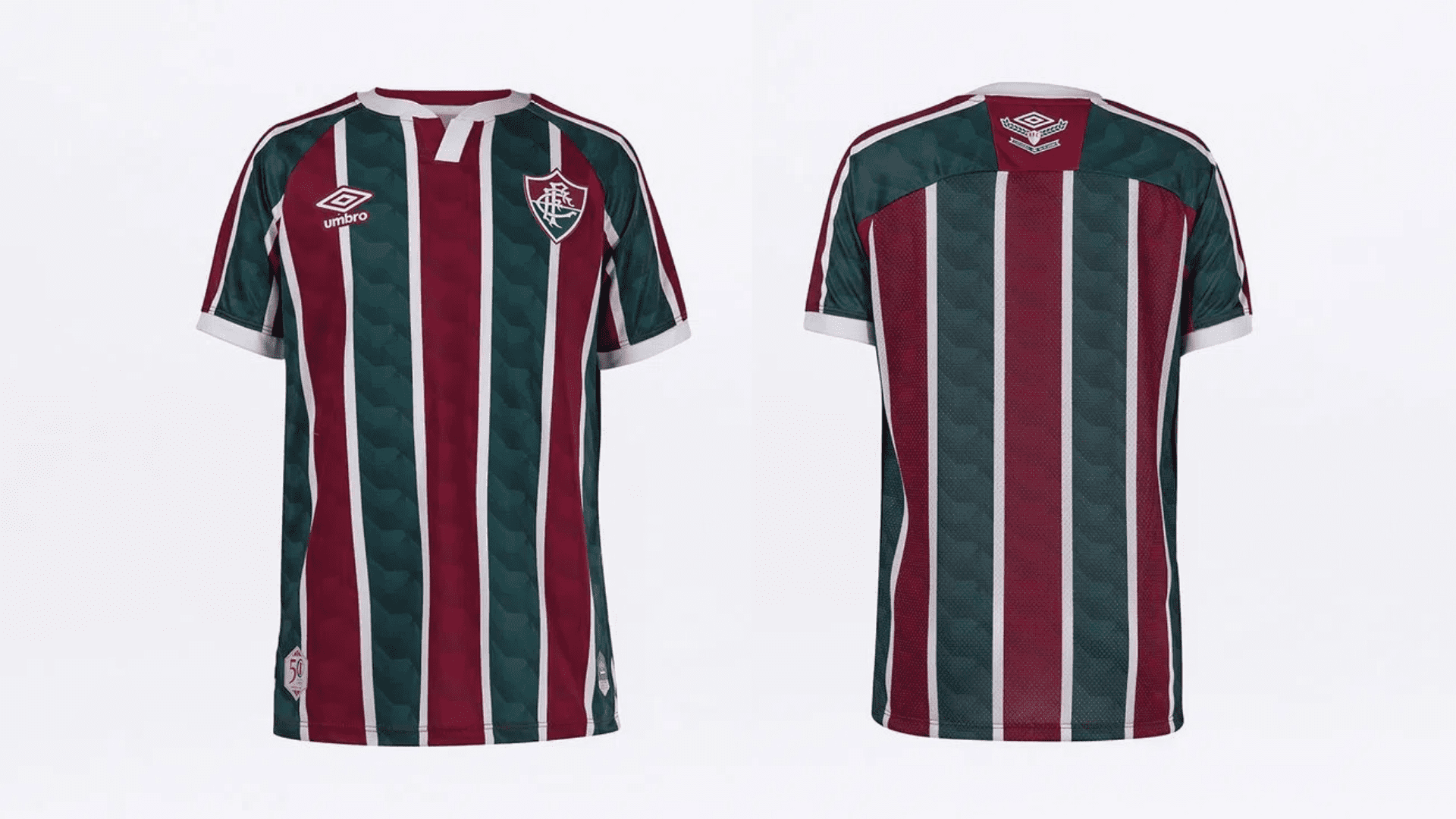 Camisa do Fluminense Infantil 2020 Umbro Jogo 1 (Imagem: Divulgação/Umbro)