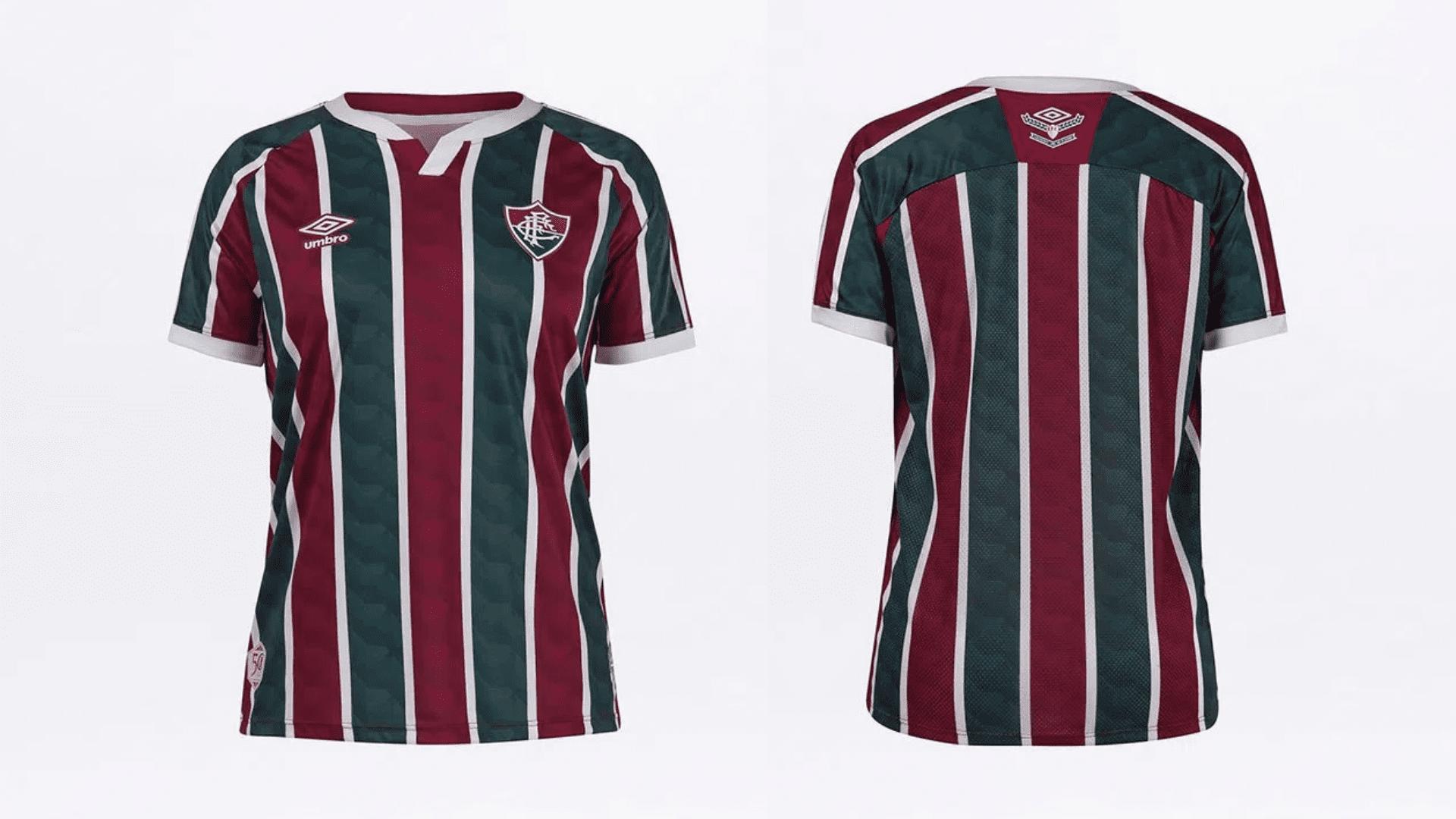Camisa do Fluminense Feminina 2020 Umbro Jogo 1 (Imagem: Divulgação/Umbro)