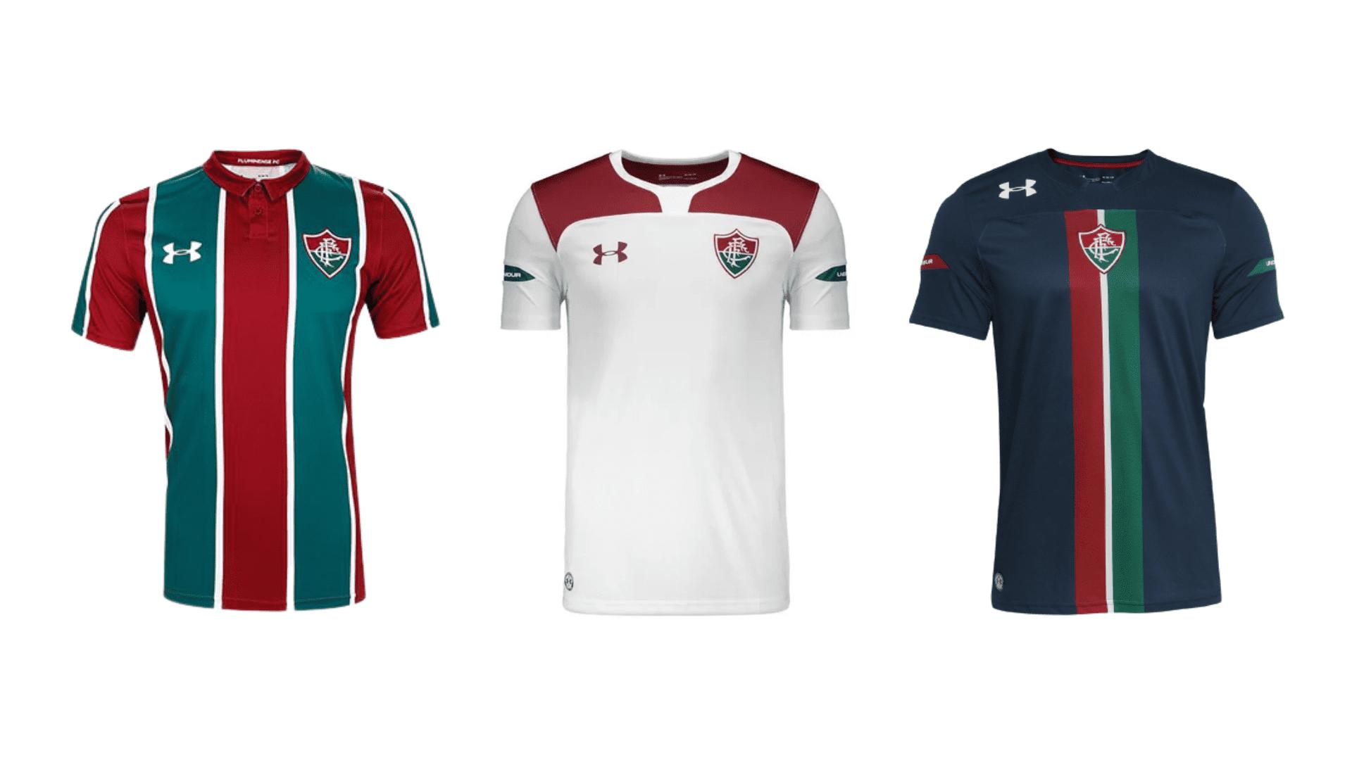 Camisa do Fluminense 2019 Under Armour Jogo 1, 2 e 3 (Imagem: Divulgação/Under Armour)