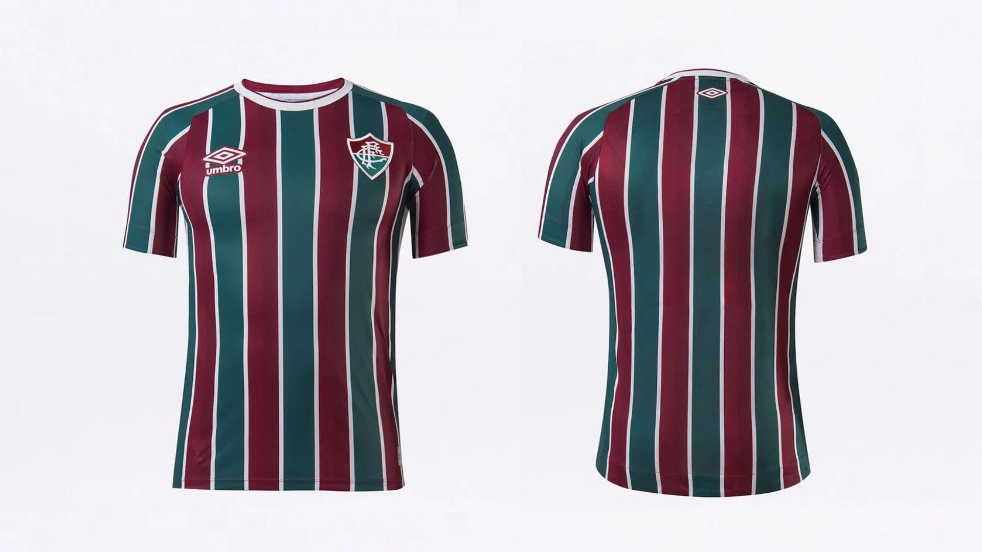 Camisa do Fluminense 2021 Umbro Jogo 1 (Imagem: Divulgação/Umbro)