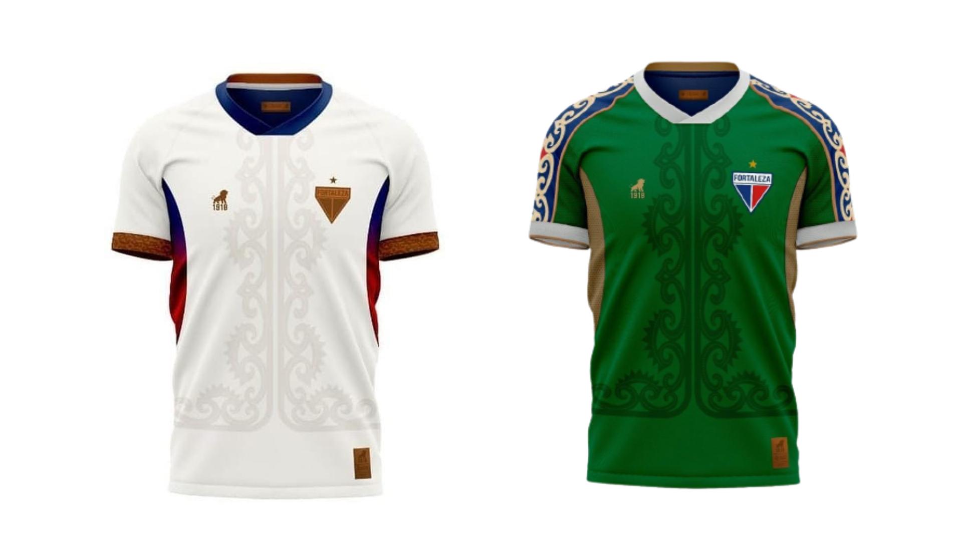 Camisa do Fortaleza 2021 Leão 1918 Luar e Sertão (Imagem: Divulgação/Leão 1918)