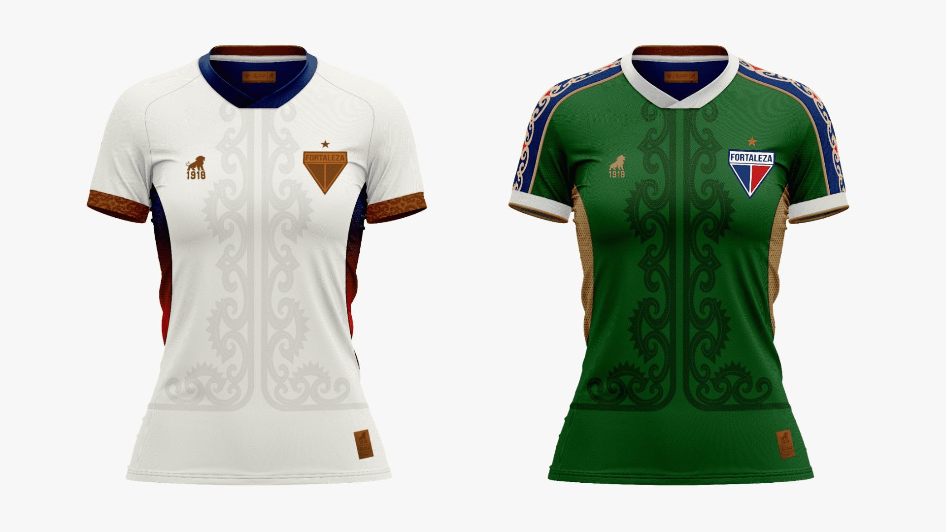 Camisa do Fortaleza Feminina 2021 Leão 1918 Luar e Sertão (Imagem: Divulgação/Leão 1918)