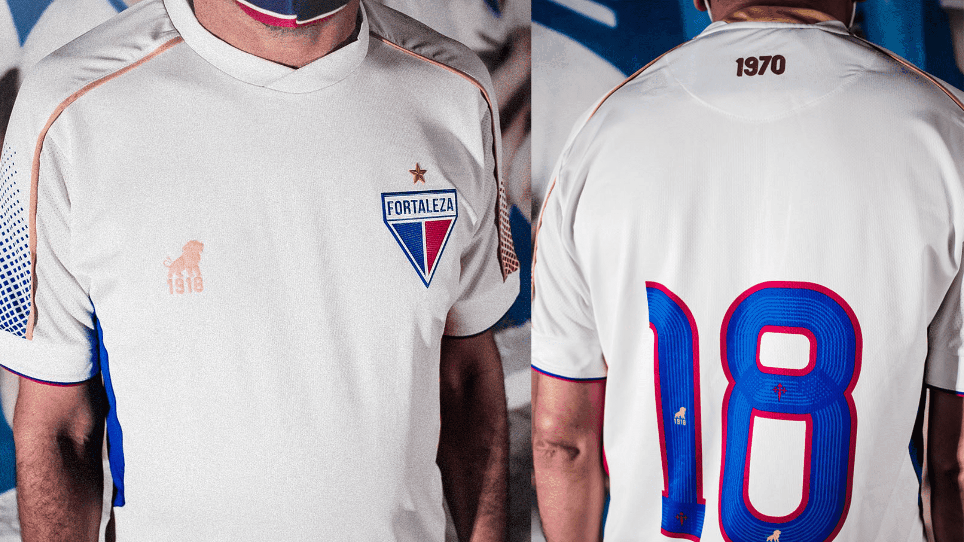 Camisa do Fortaleza 2021 Leão 1918 Jogo 2 (Imagem: Divulgação/Leão 1918)