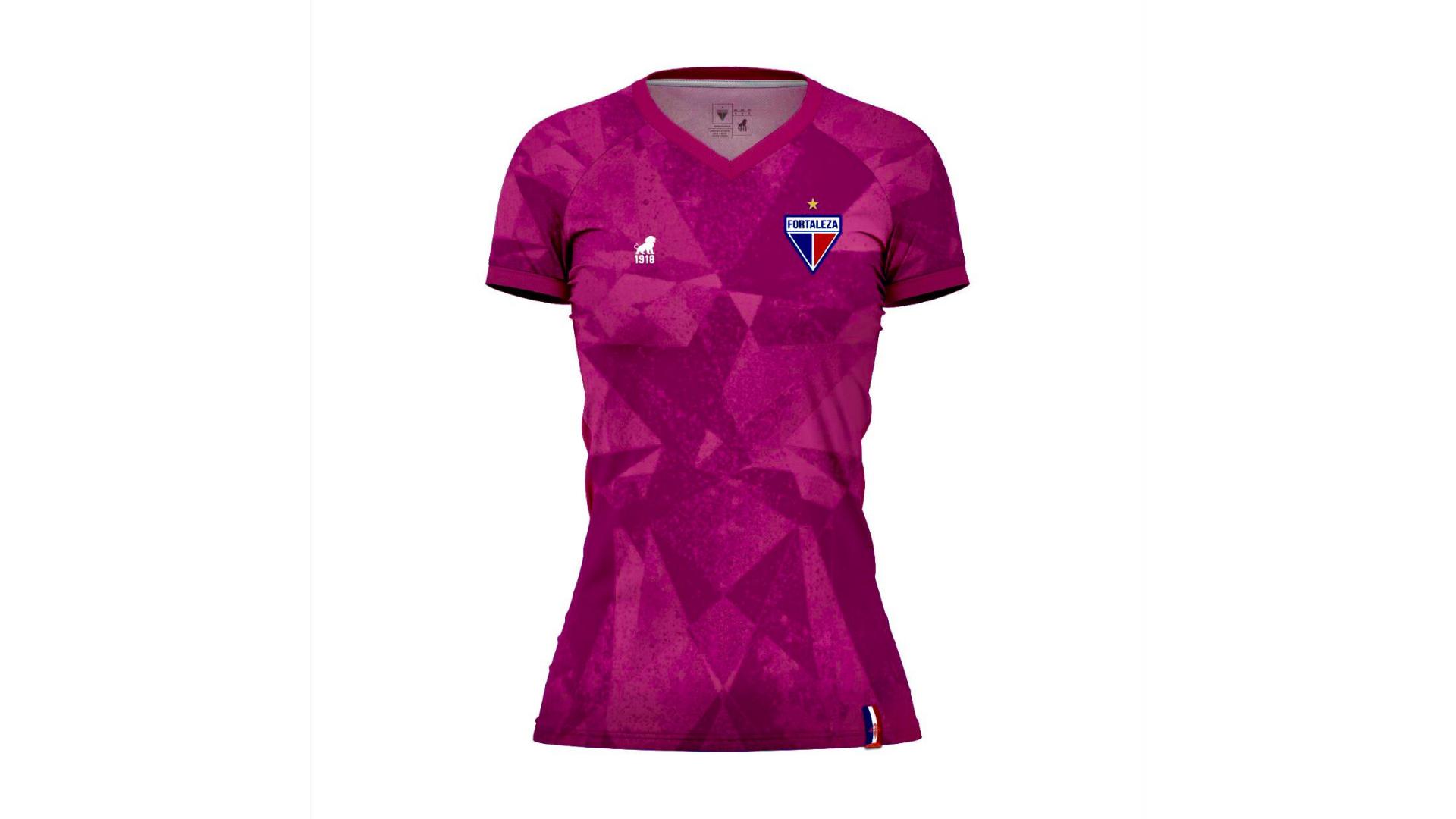 Camisa do Fortaleza 2020 Leão 1918 Outubro Rosa (Imagem: Divulgação/Leão 1918)