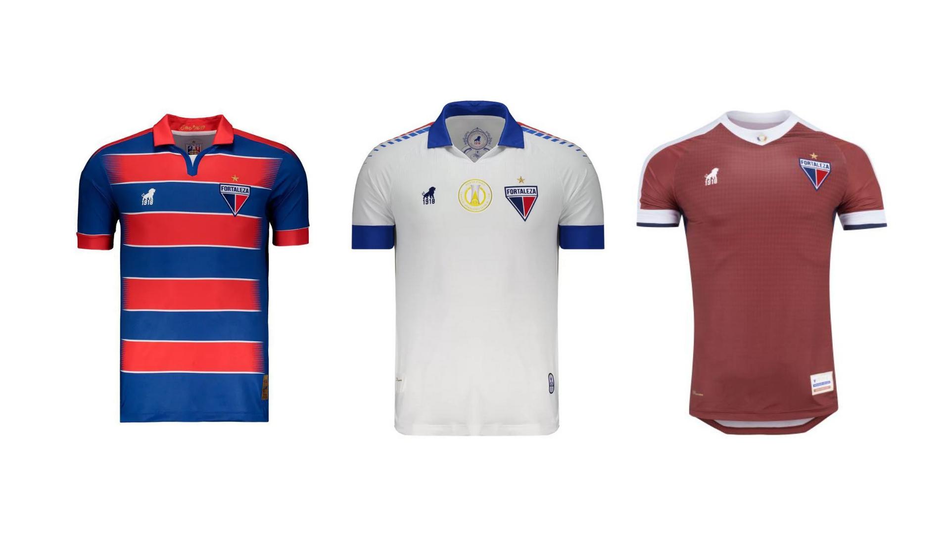 Camisa do Fortaleza 2019 Leão 1918 Jogo 1, 2 e 3 (Imagem: Divulgação/Leão 1918)