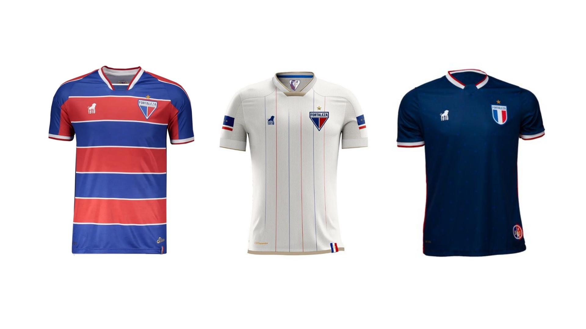 Camisa do Fortaleza 2020 Leão 1918 Jogo 1, 2 e 3 (Imagem: Divulgação/Leão 1918)
