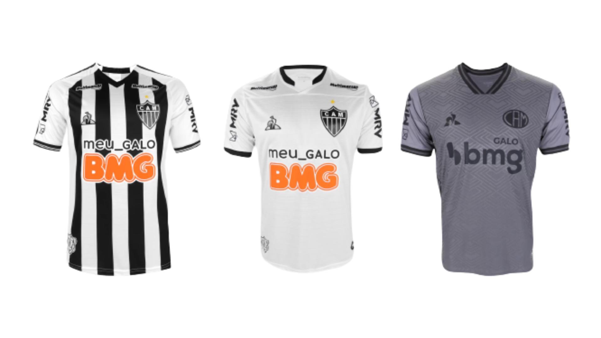 Camisa do Galo 2020 Le Coq Sportif Jogo 1, 2 e 3 (Imagem: Divulgação/Le Coq Sportif)