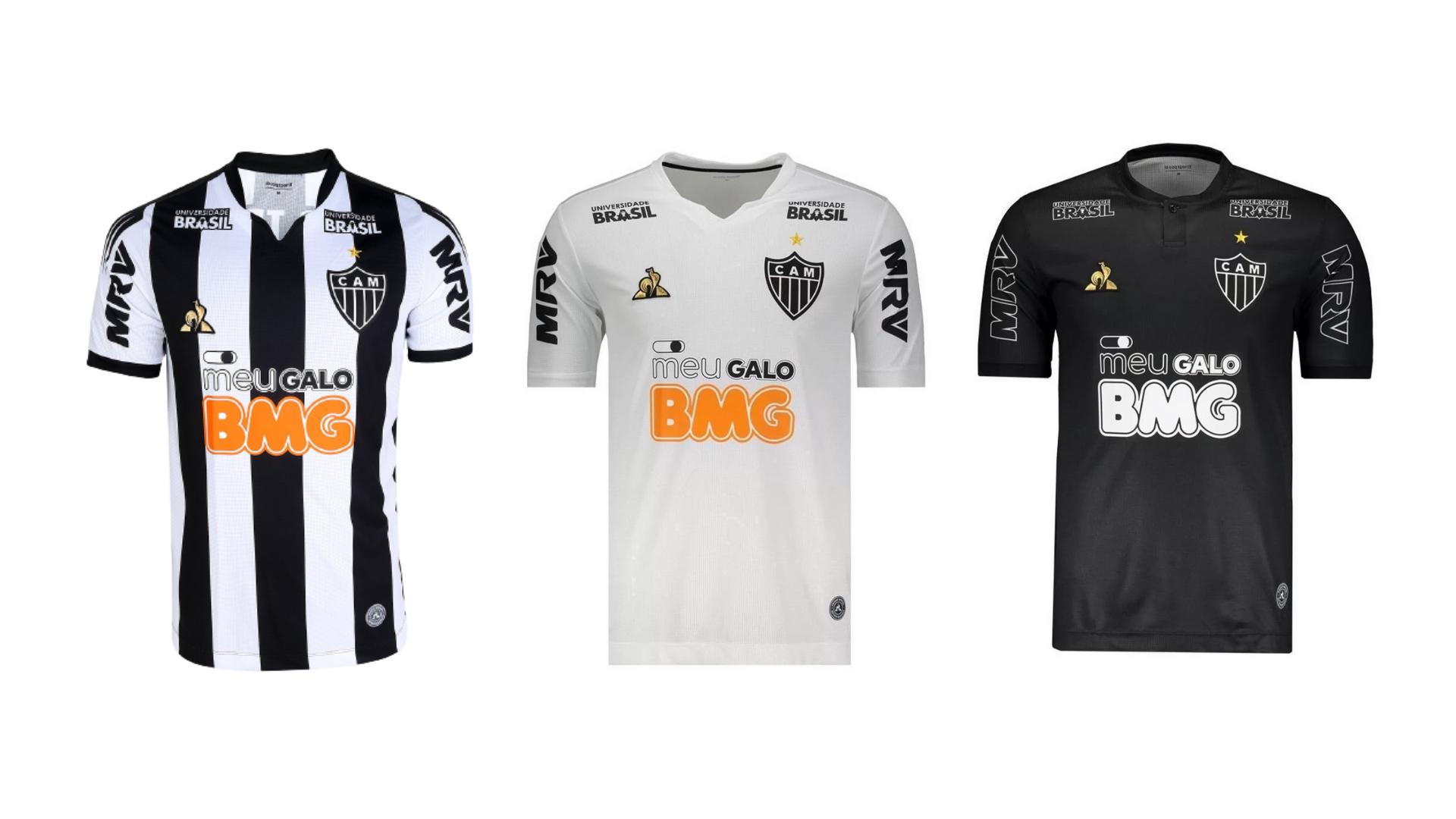 Camisa do Galo 2019 Le Coq Sportif Jogo 1, 2 e 3 (Imagem: Divulgação/Le Coq Sportif)