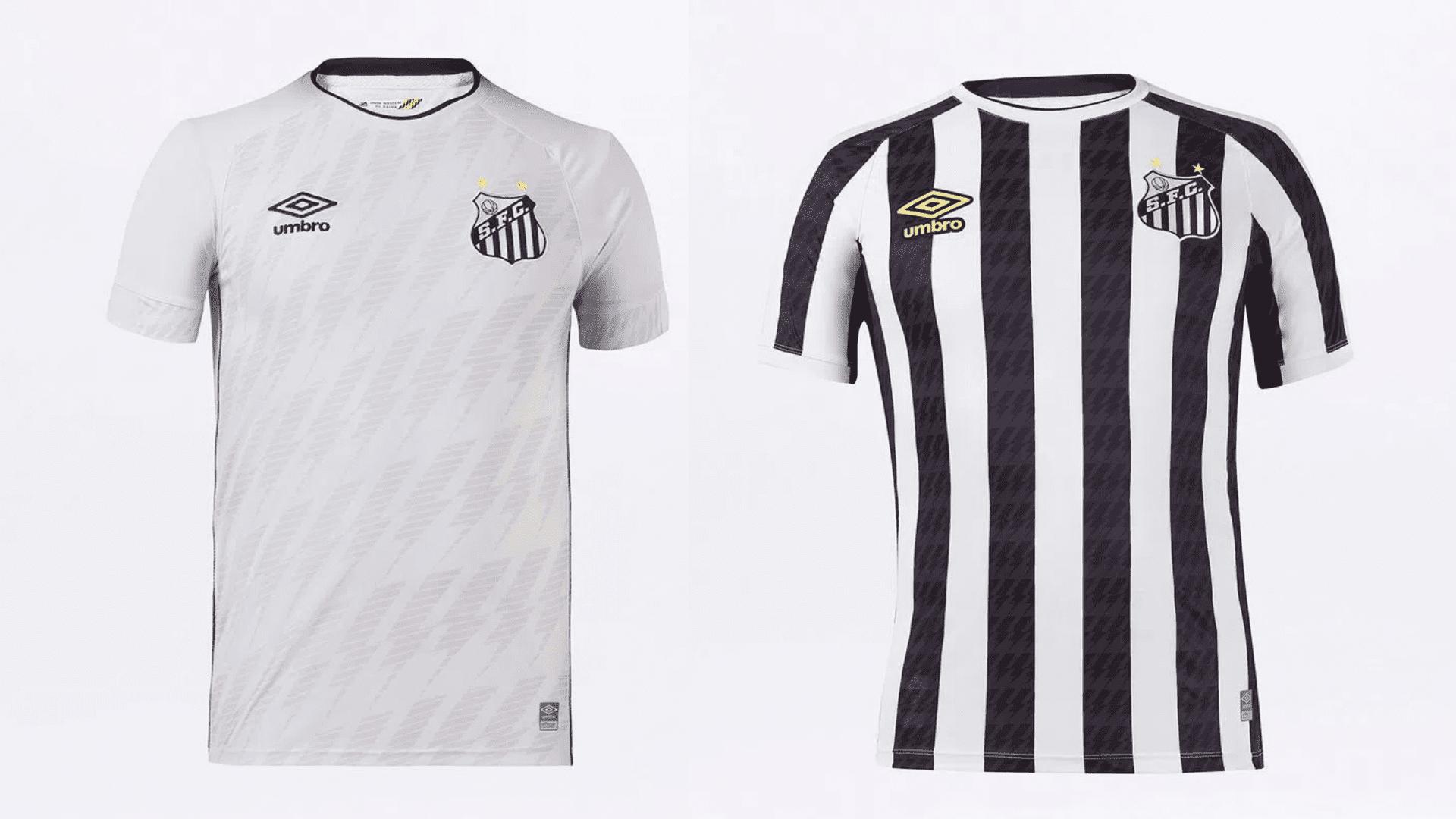 Camisa do Santos 2021 Umbro Jogo 1 e 2 (Imagem: Divulgação/Umbro)