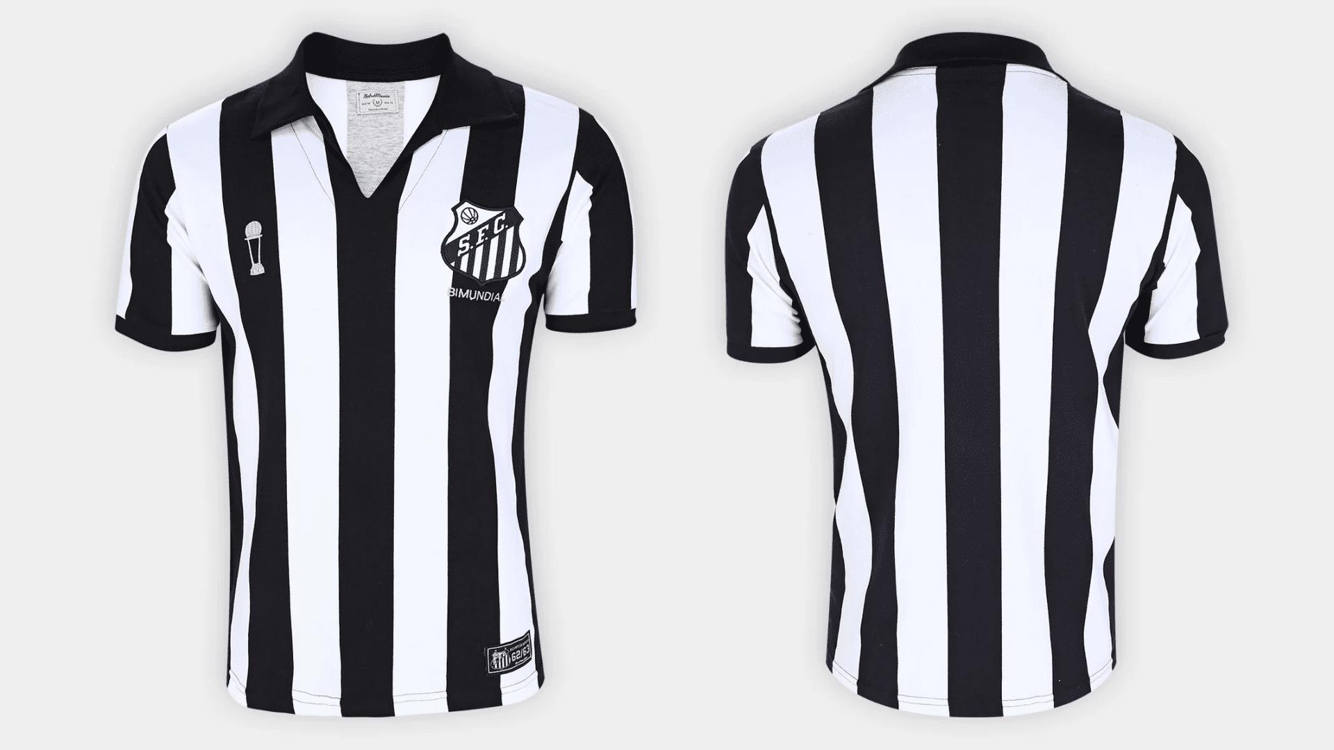 Camisa do Santos Retrô 1963 (Imagem: Divulgação/RetrôMania)
