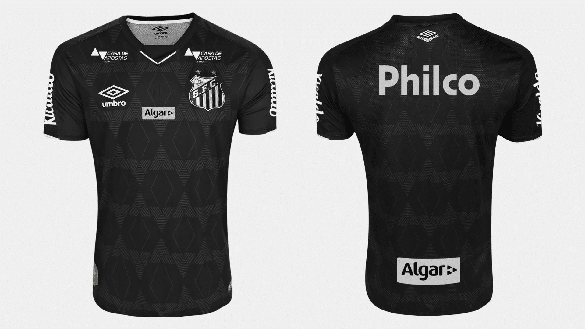 Camisa do Santos 2019 Umbro Jogo 3 (Imagem: Divulgação/Umbro)