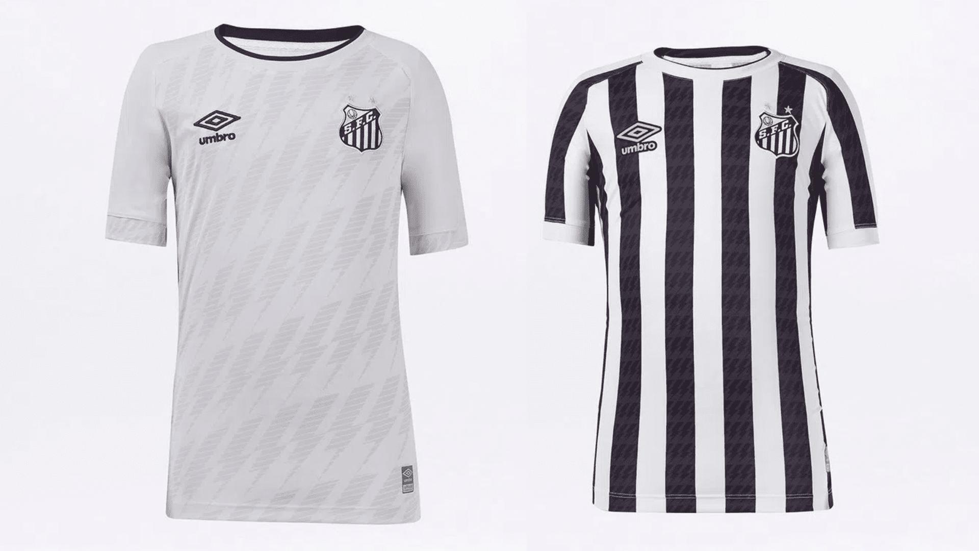 Camisa do Santos Infantil 2021 Umbro Jogo 1 e 2 (Imagem: Divulgação/Umbro)